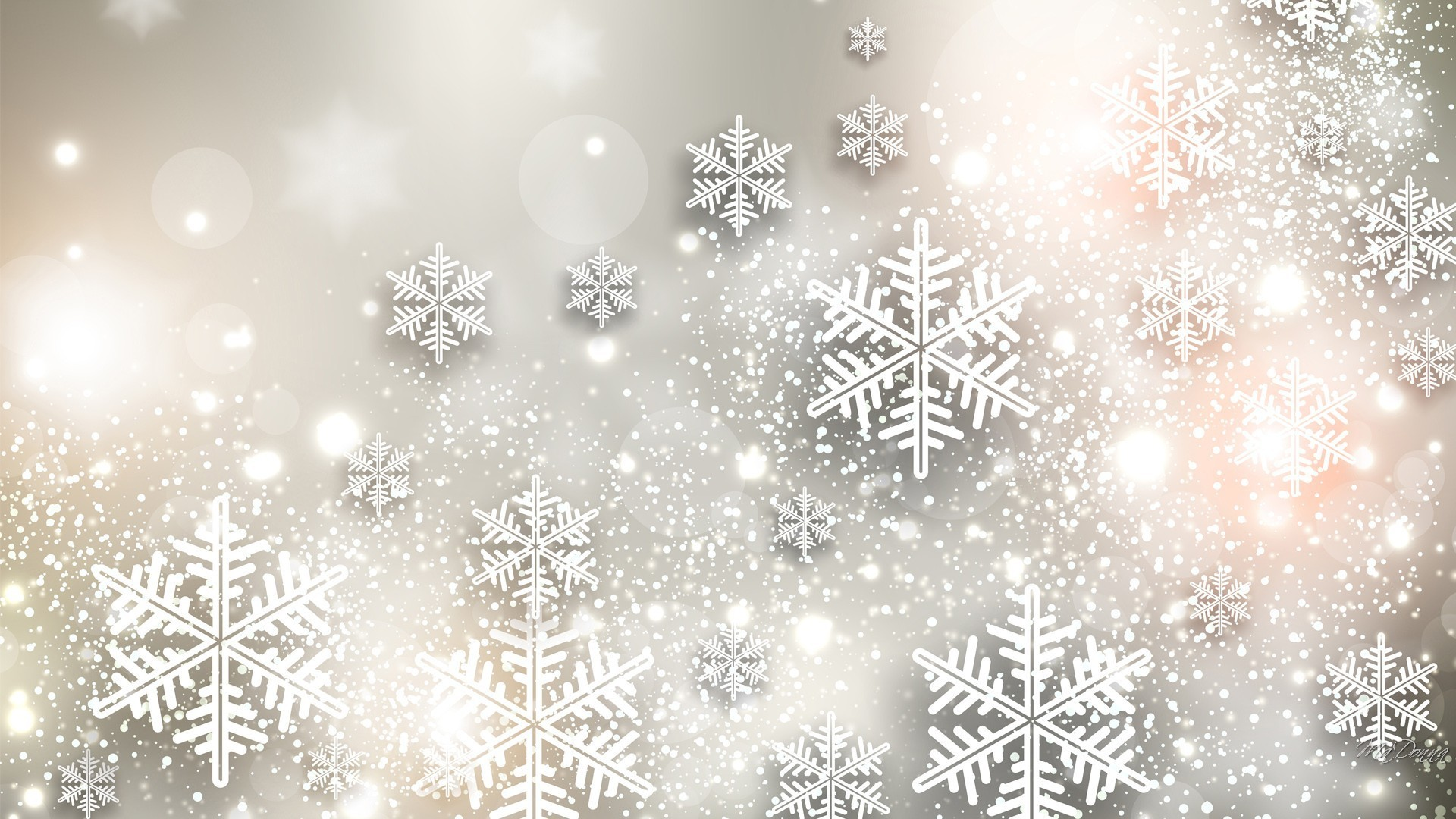 Res: 1920x1080, Snowflake Shine New Christmas Navidad Feliz White Winter Gray Years Noel  Sparkle Snowflakes Glow Silver Stars Beautiful HD Wallpapers Detail