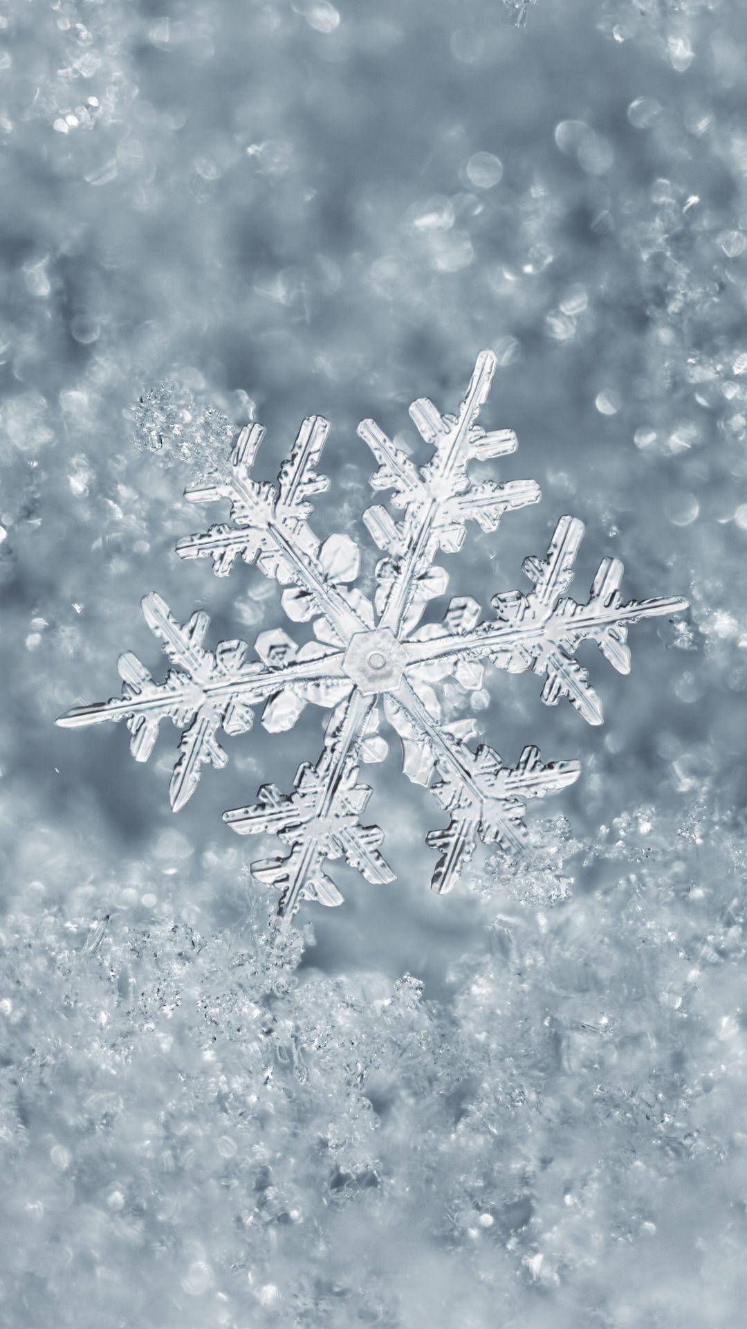 Res: 1080x1920, Ice Snowflake iPhone 7 Plus Wallpaper