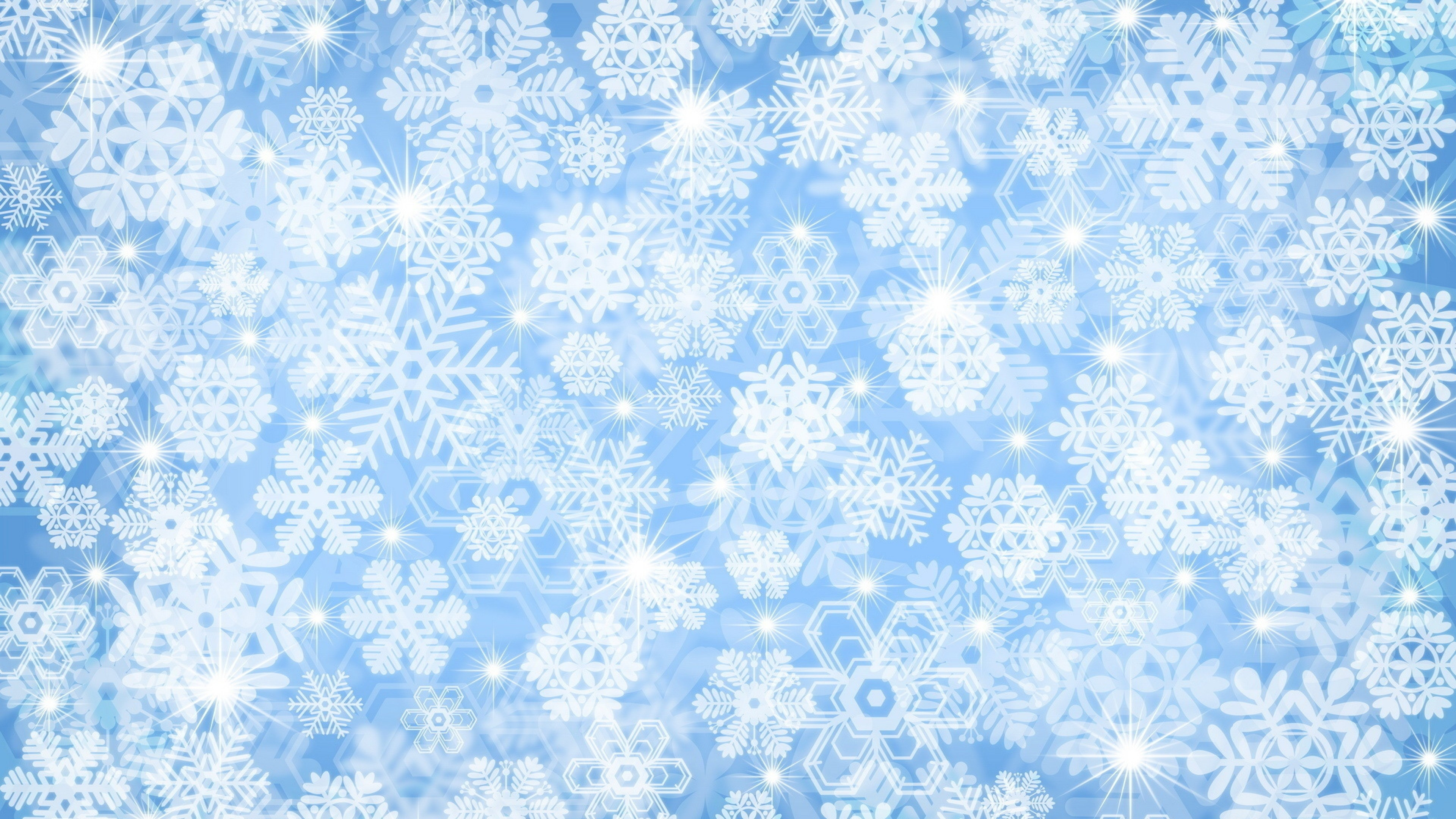 Res: 3840x2160, Snowflake Background