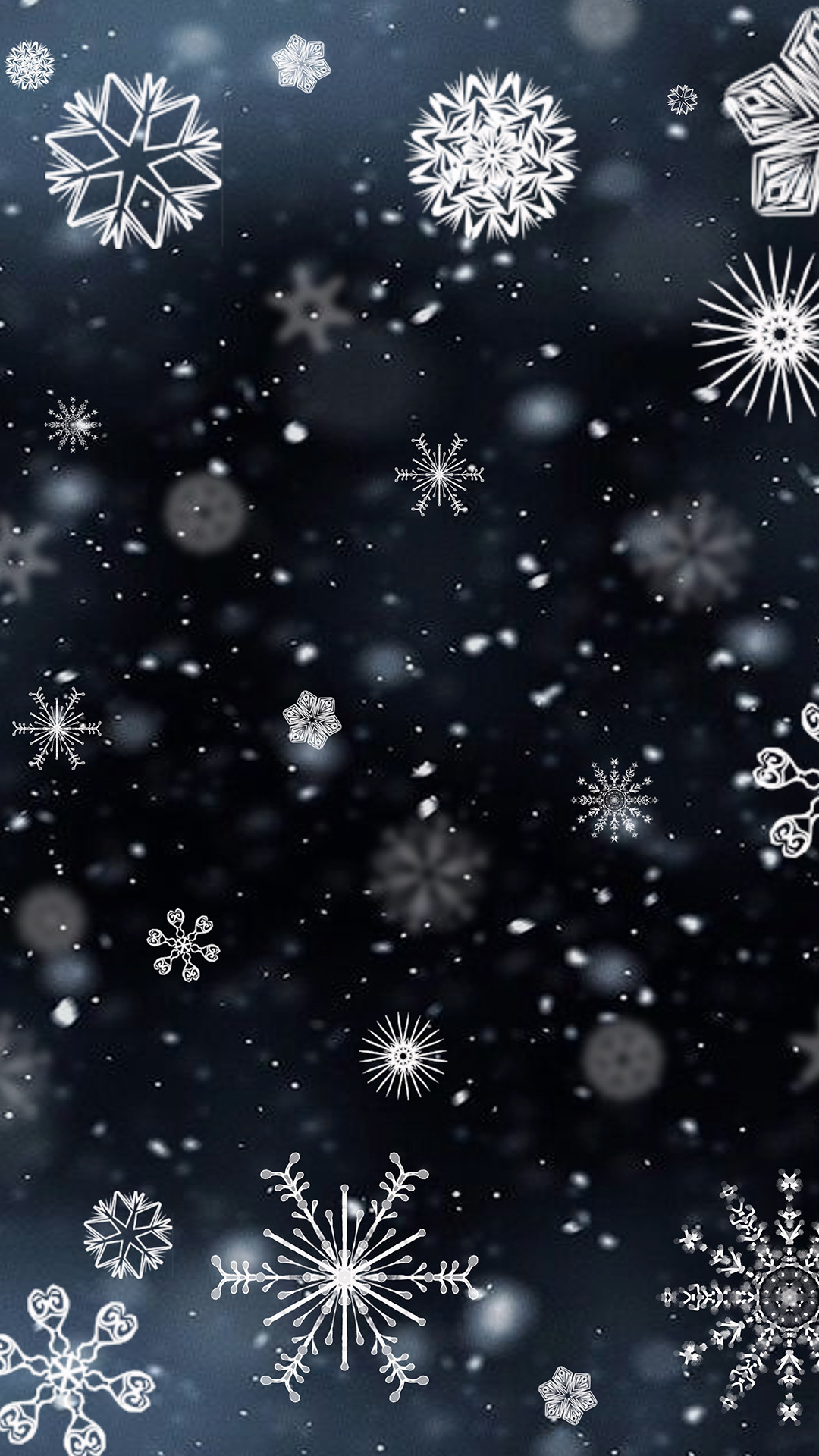 Res: 1080x1920, Download · Snowflakes Phone Wallpaper