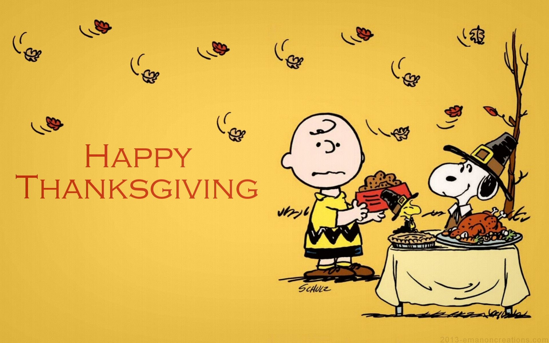 Res: 1920x1200, Snoopy Thanksgiving HQ Wallpaper.