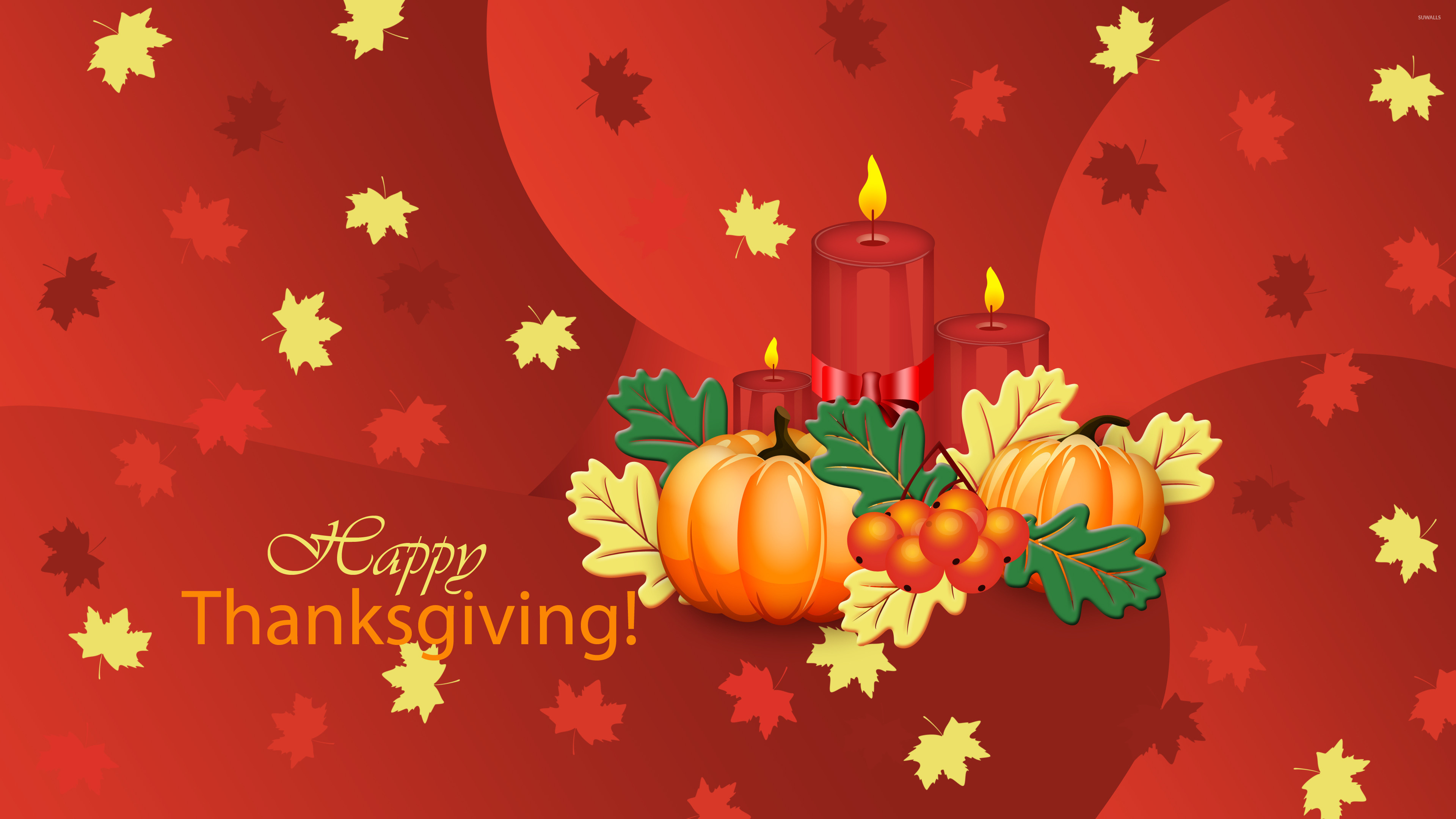 Res: 3840x2160, Pumpkins and candles on Thanksgiving wallpaper  jpg