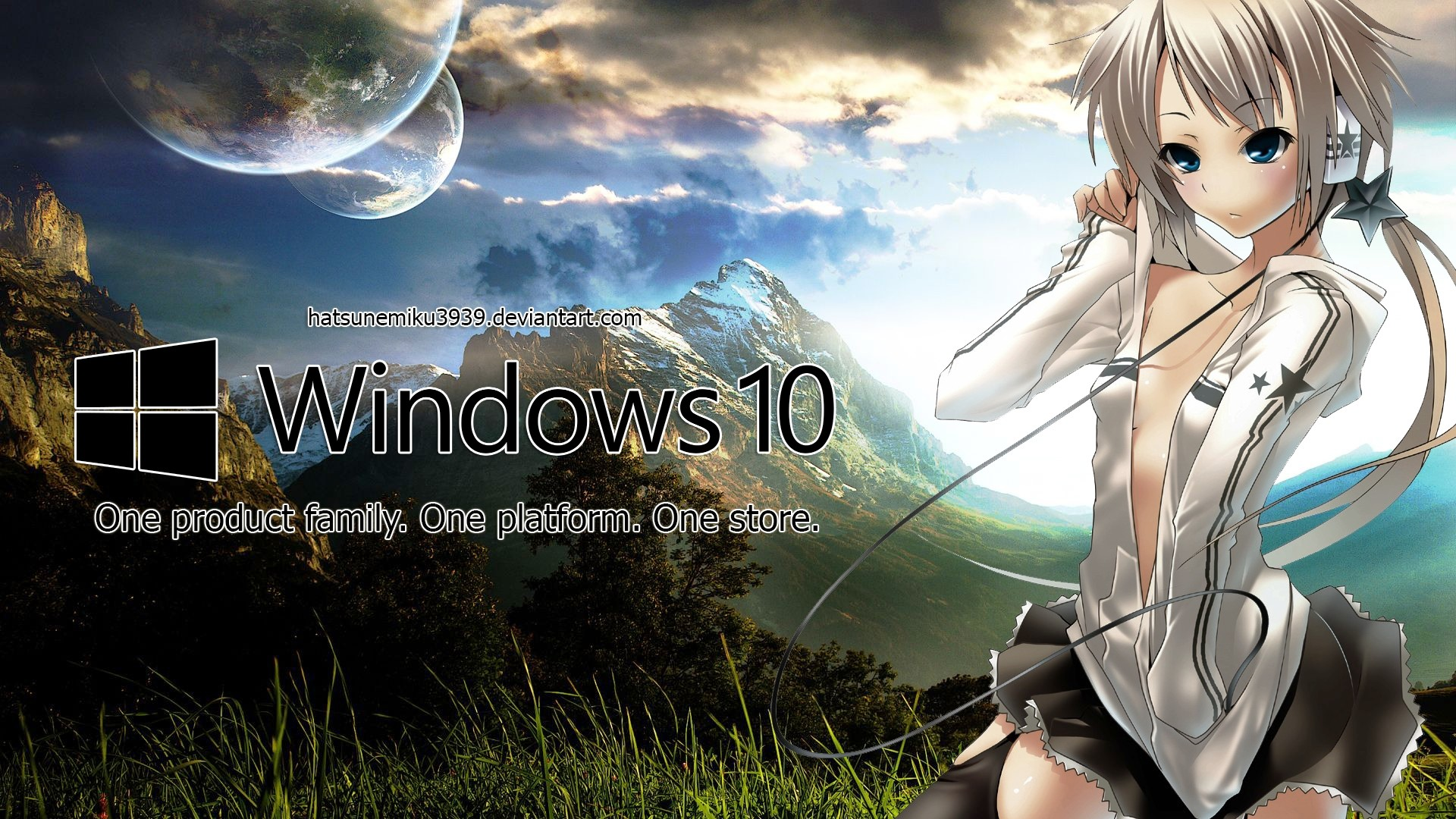 Res: 1920x1080, Best of Windows 10 Anime theme Wallpaper Hd Collection - Windows 10 Anime  Wallpaper by HatsuneMiku3939