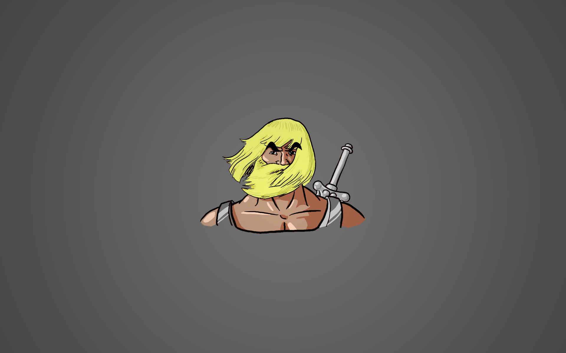 Res: 1920x1200, ... Bearded: He-Man Wallpaper by Affubalator