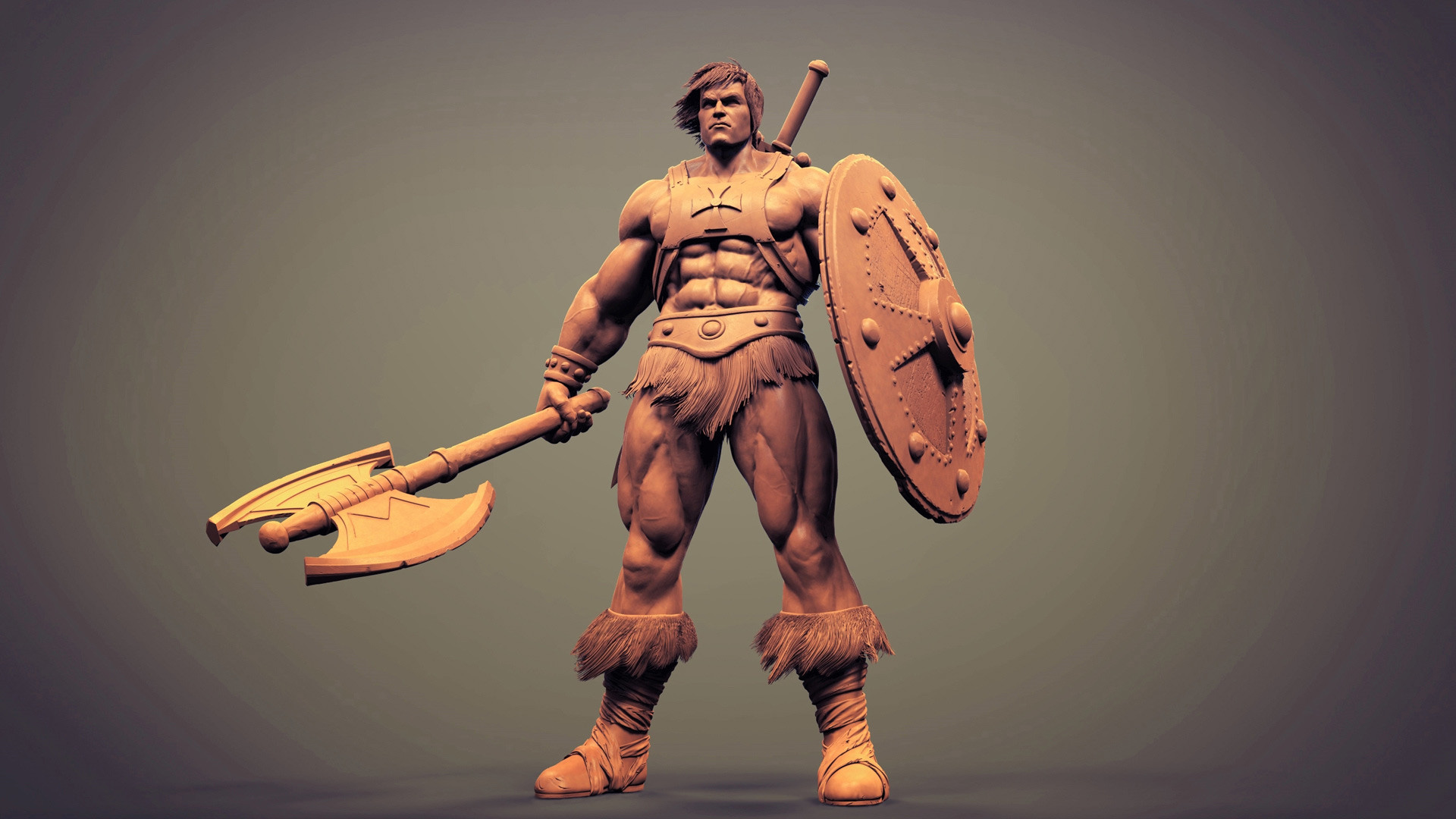 Res: 1920x1080, CGTalk - He-man toy model. , puneet pinku (3D)