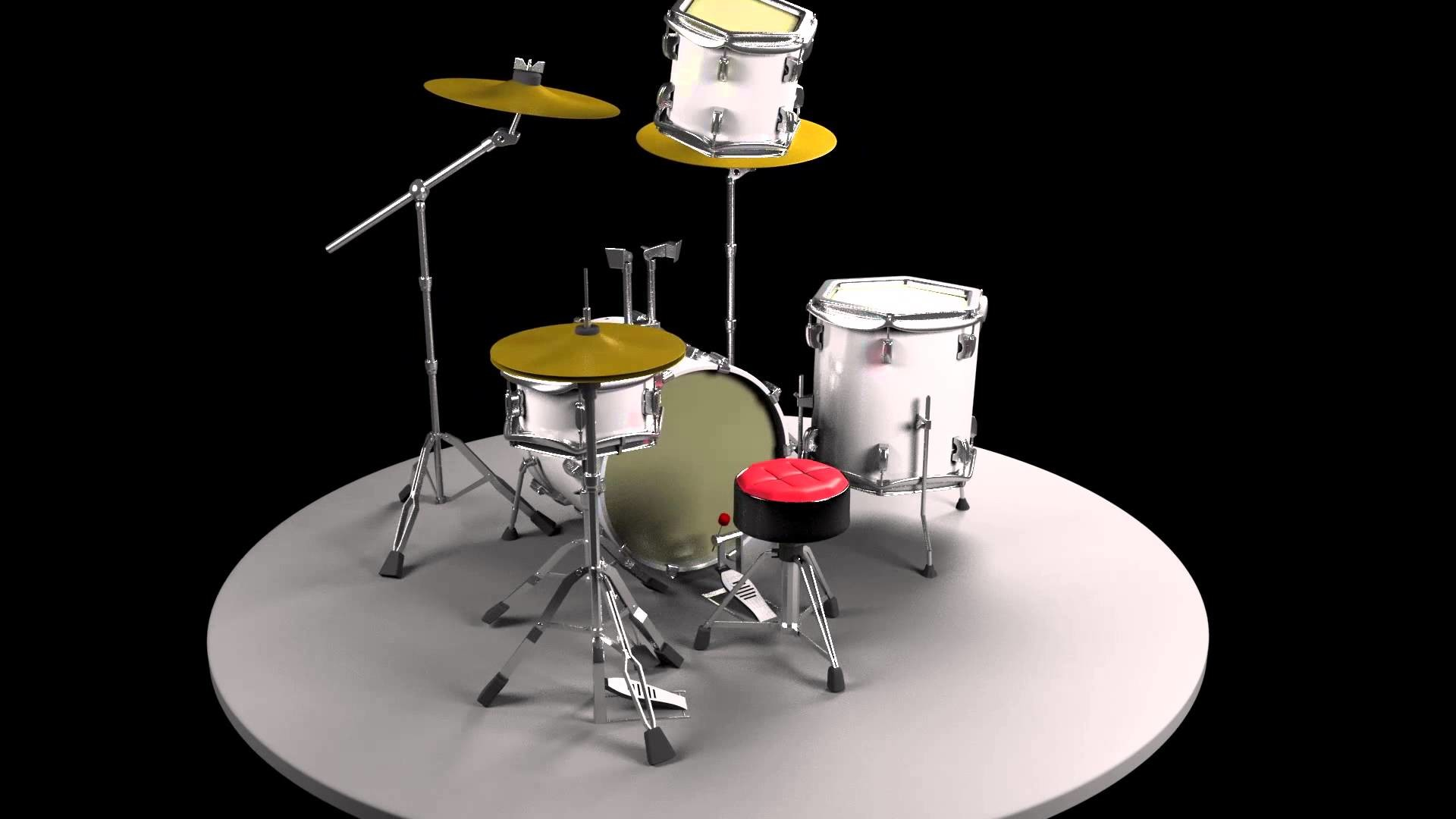 Res: 1920x1080, Pearl Drum Set 3D Model