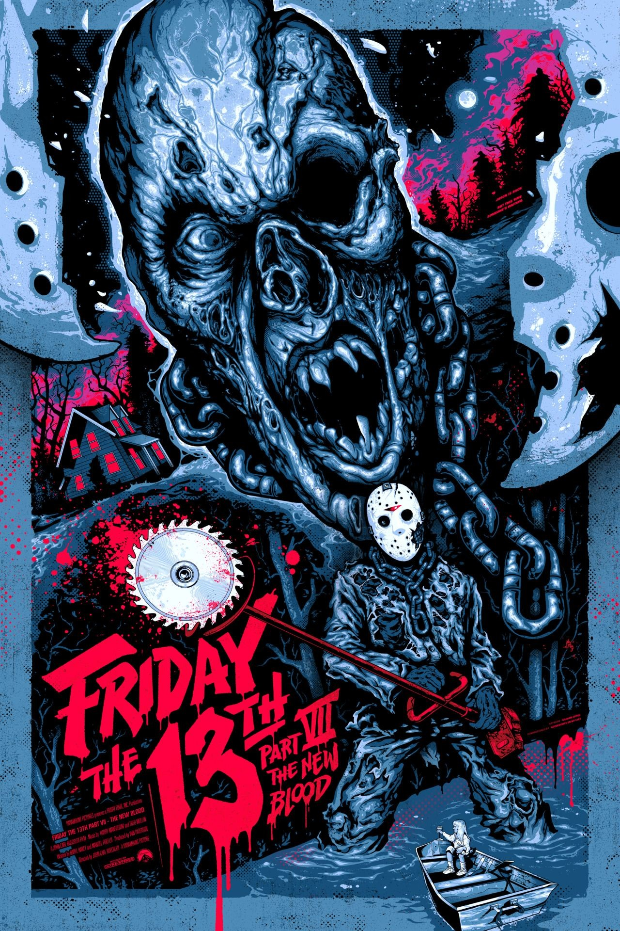 Res: 1280x1920, Friday the 13th Part VII: The New Blood (1988) HD Wallpaper From  Gallsource.com
