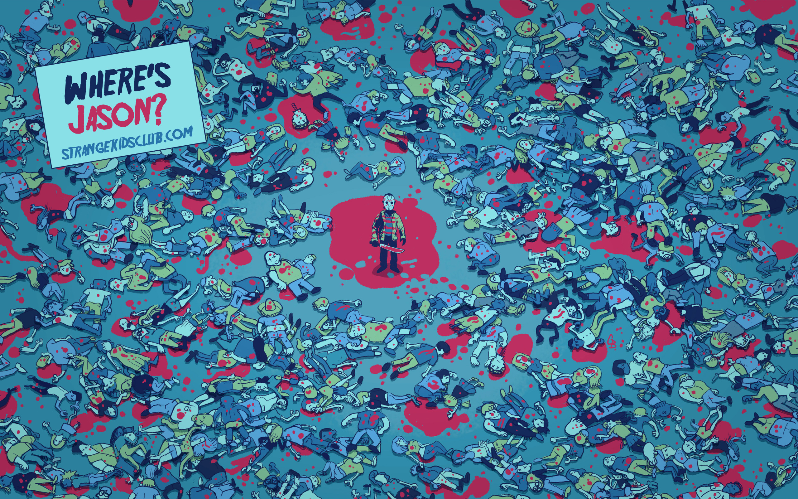 Res: 2560x1600, FREE 'Where's Jason?' Wallpaper by Glen Brogran to Celebrate Friday the 13th