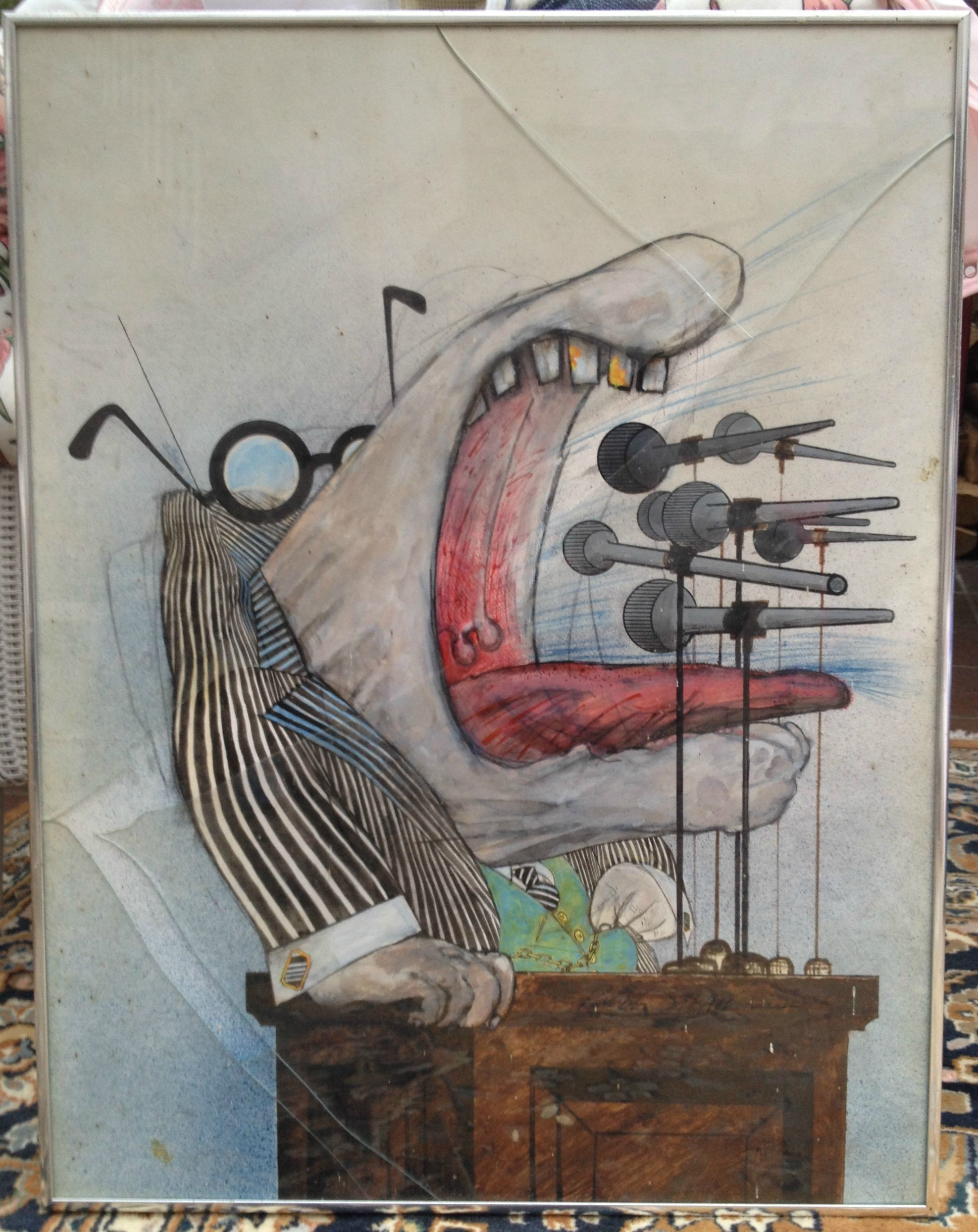 Res: 1975x2488, Found an original Ralph Steadman among my late fathers belongings, how  would I go about valuing it ?
