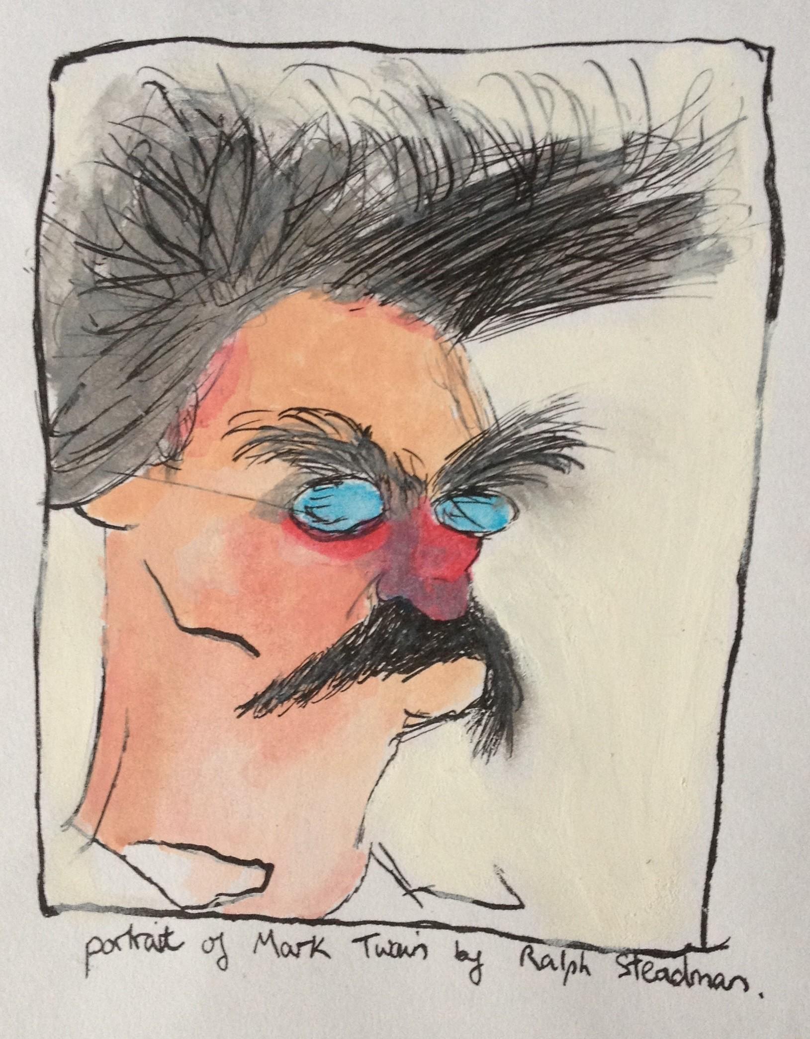 Res: 1629x2089, ... Portrait of Mark Twain by Ralph Steadman by Spannah88