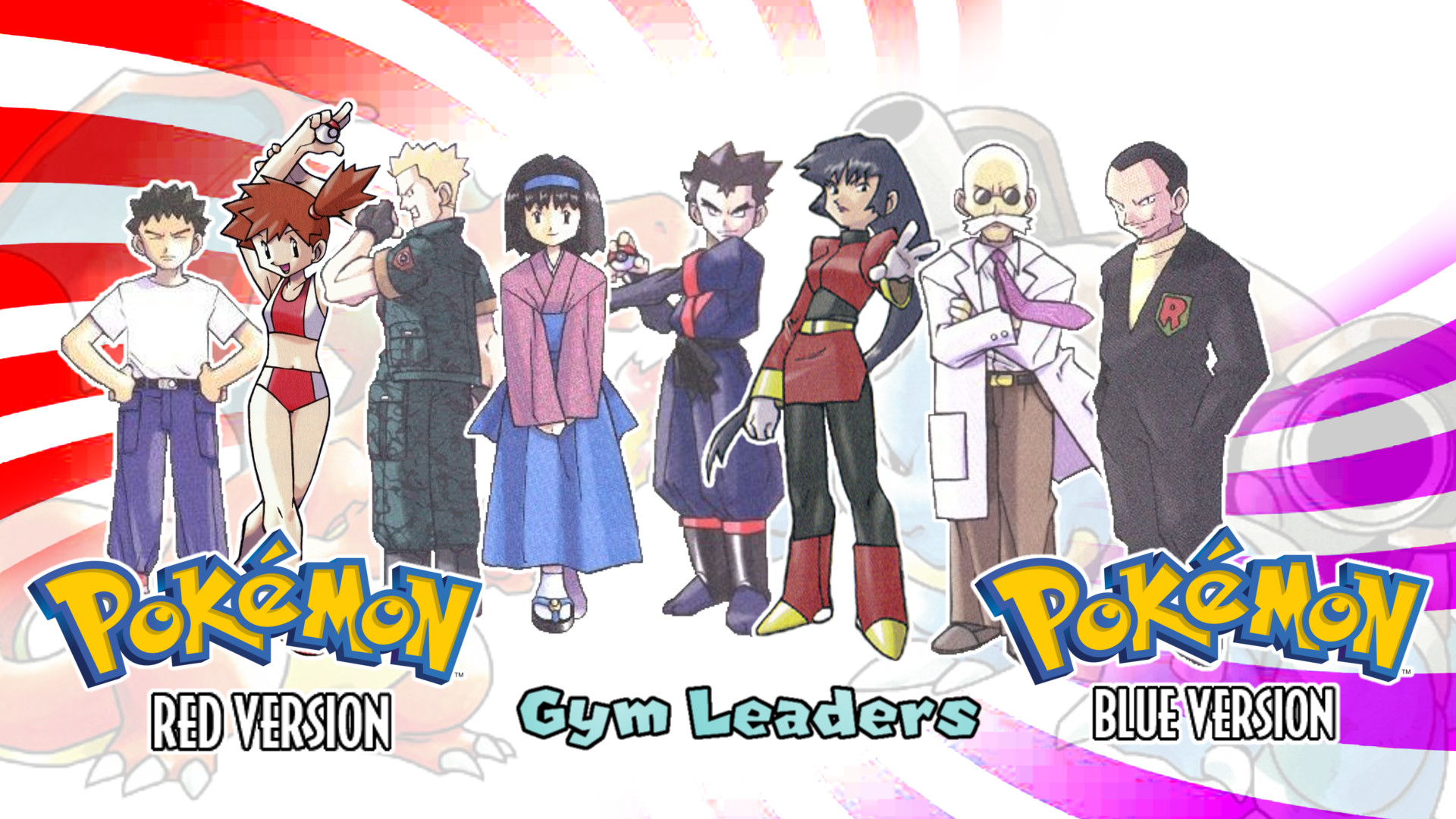 Res: 1920x1080, MattPlaysVG 1 0 Pokemon Red and Blue- Gym Leaders Wallpaper by MattPlaysVG