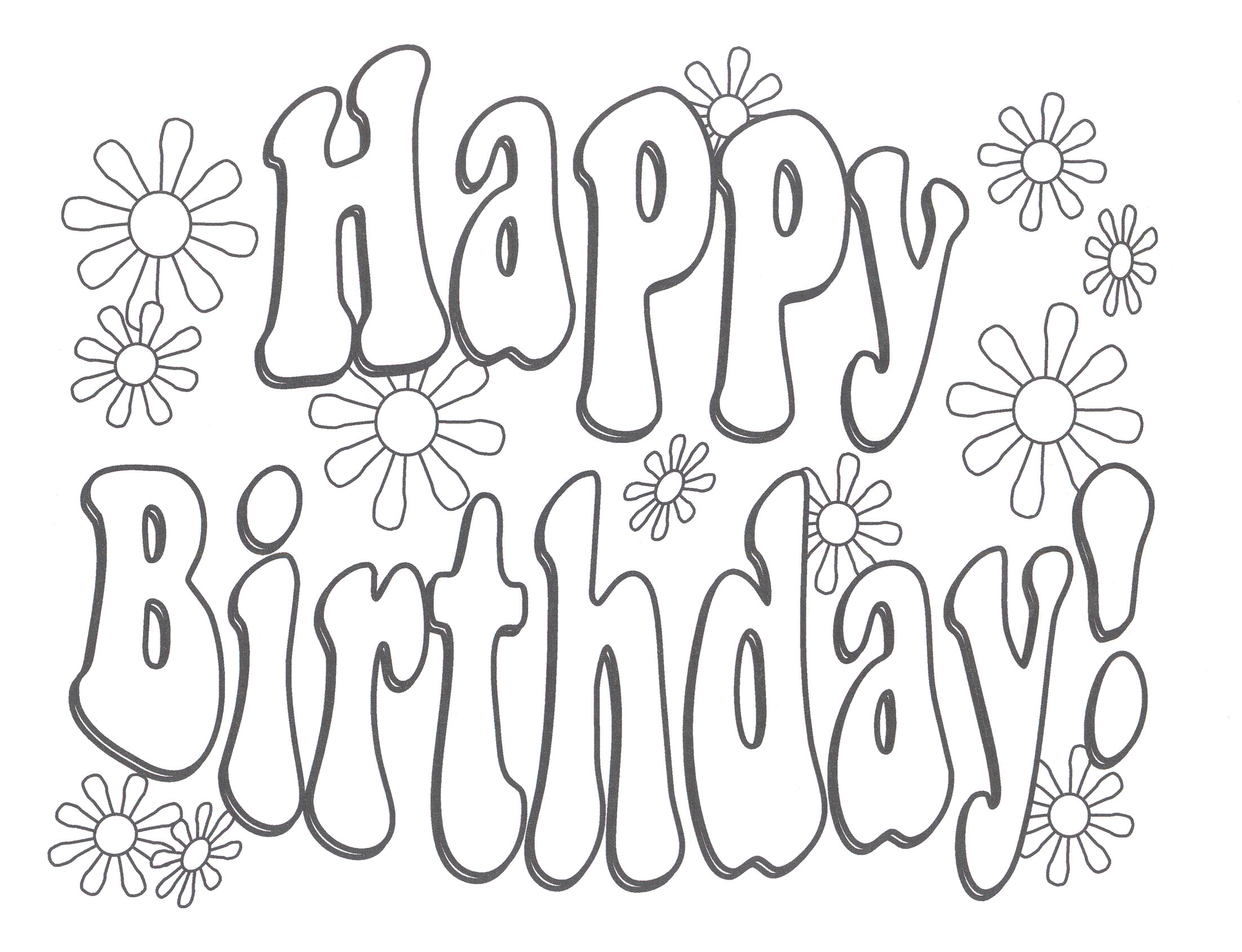 Res: 2204x1690, happy birthday coloring pages printable - HD Wallpapers