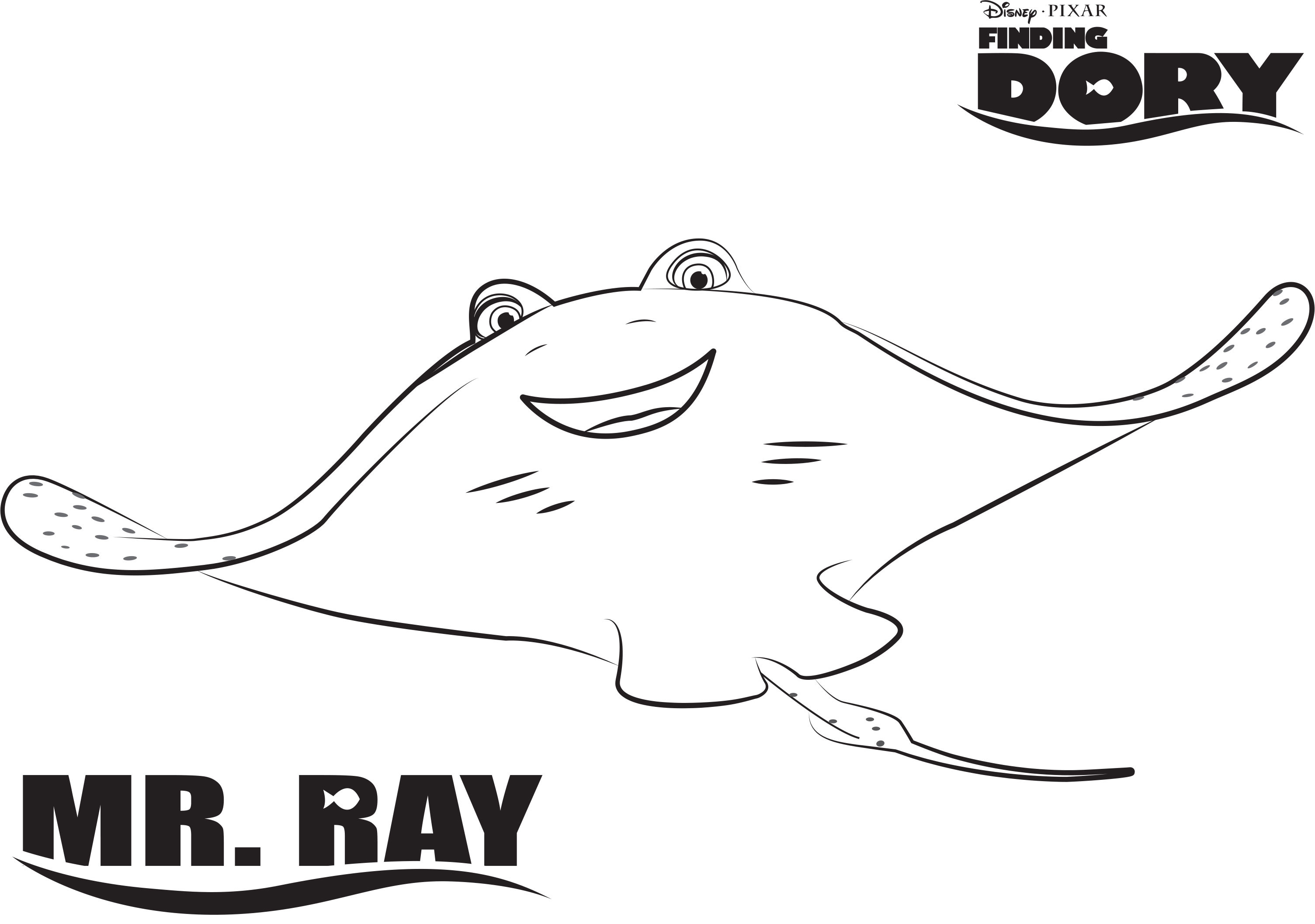 Res: 3009x2115, Easily Stingray Coloring Page With Wallpapers High Quality