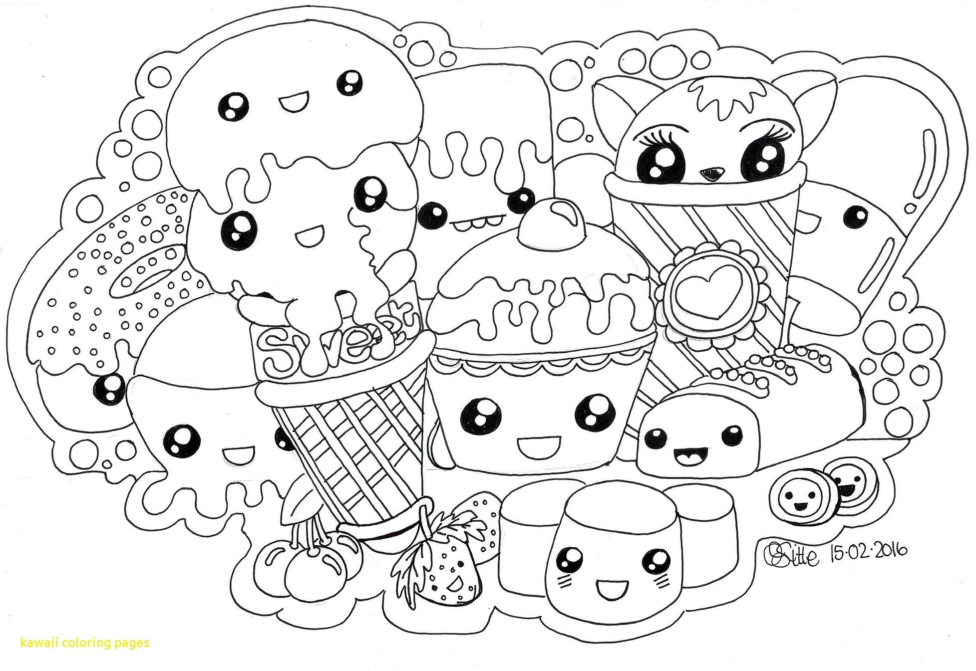 Res: 1955x1345, Magnificent Ideas coloring page kawaii Kawaii Coloring Pages With Wallpapers  Free Download At Coloring