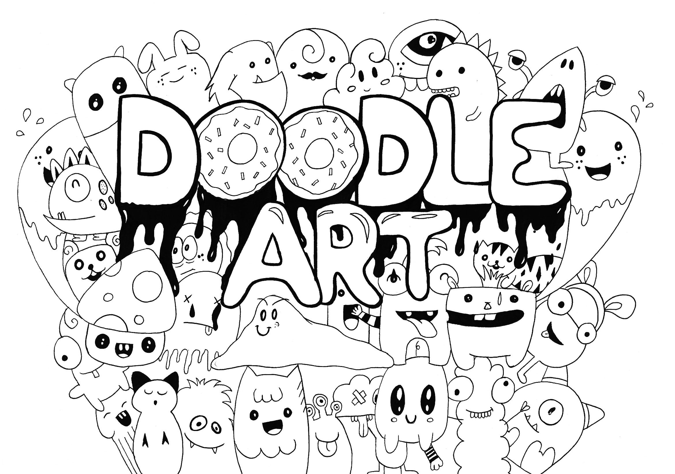 Res: 2338x1643, Insider Kawaii Coloring Pages Free To Color For Children Kids