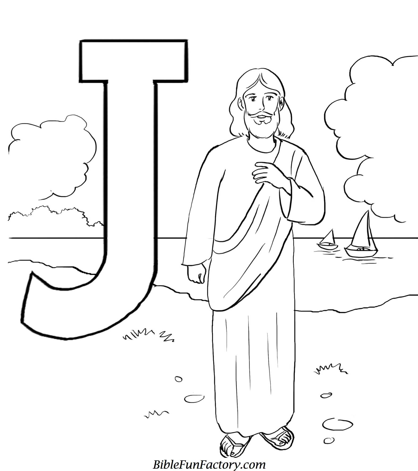 Res: 1773x2000, j for jesus coloring page - HD Wallpapers