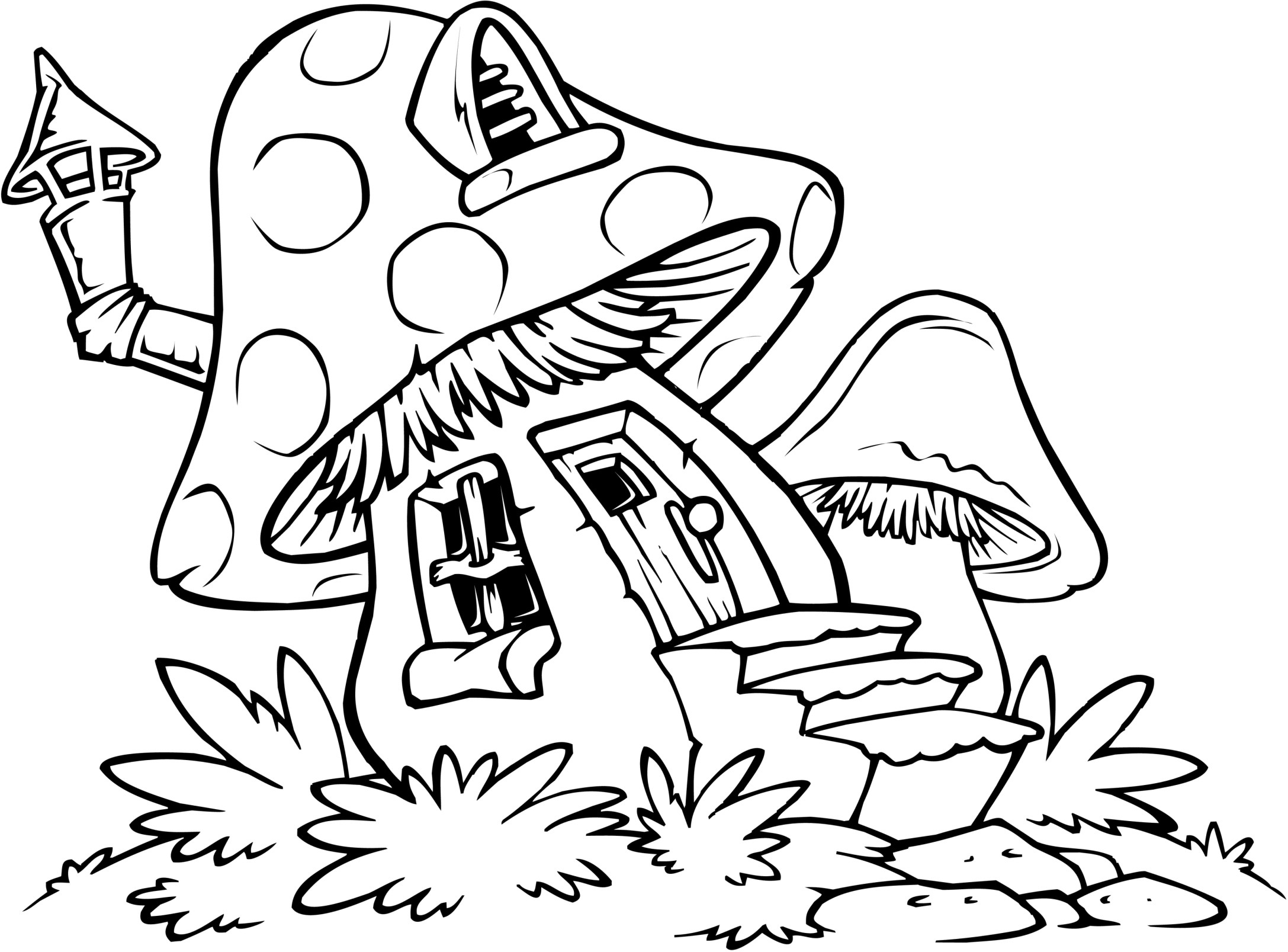 Res: 2175x1607, Terrific Full House Coloring Pages Gingerbread With Wallpapers Laptop