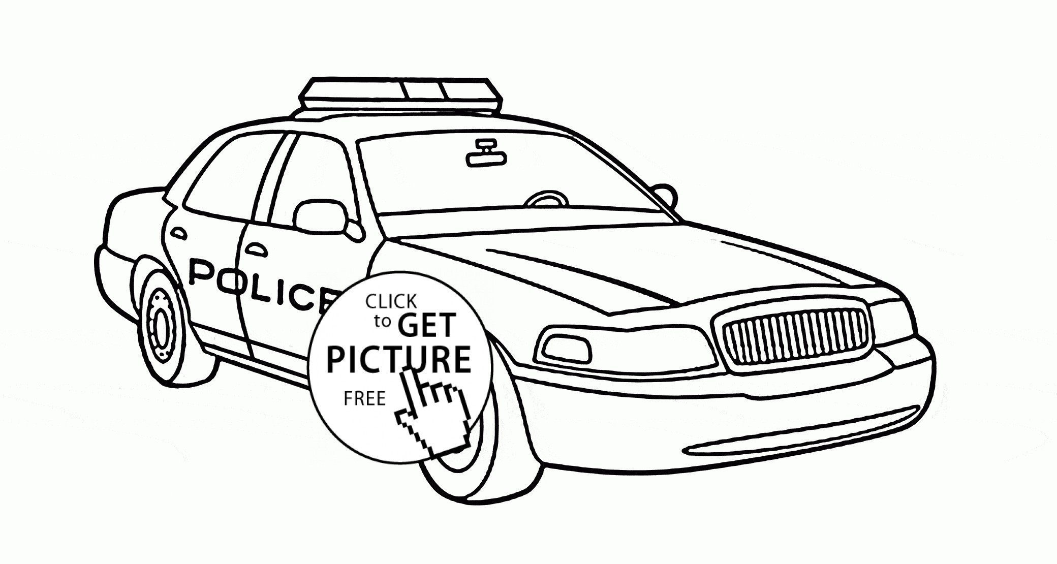 Res: 2080x1110, Police Car Coloring Page with Wallpapers
