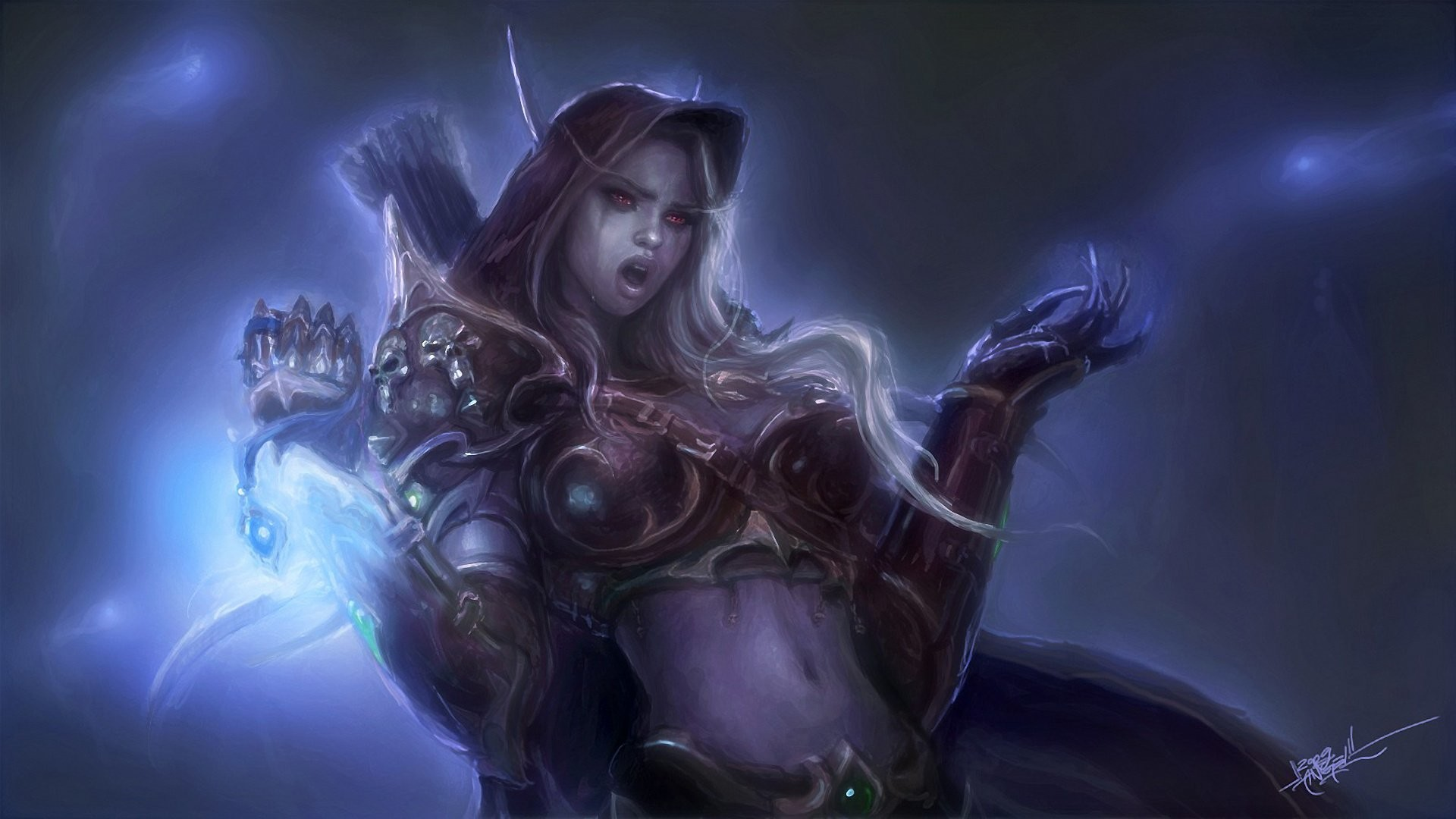 Res: 1920x1080, Arts lady sylvanas windrunner world of warcraft wow armor magic elf  wallpaper |  | 747990 | WallpaperUP