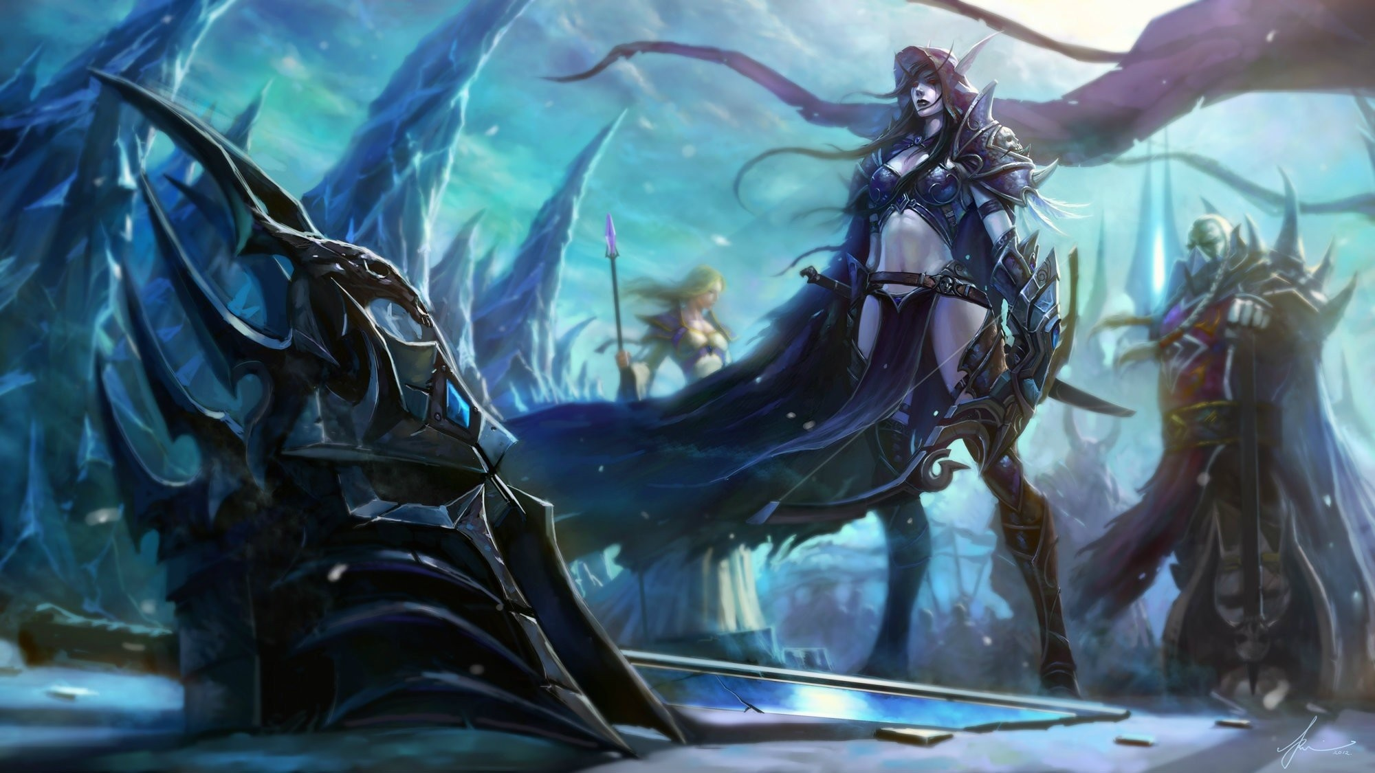 Res: 2000x1125, world of warcraft lich king lady sylvanas varok saurfang jaina proudmoore