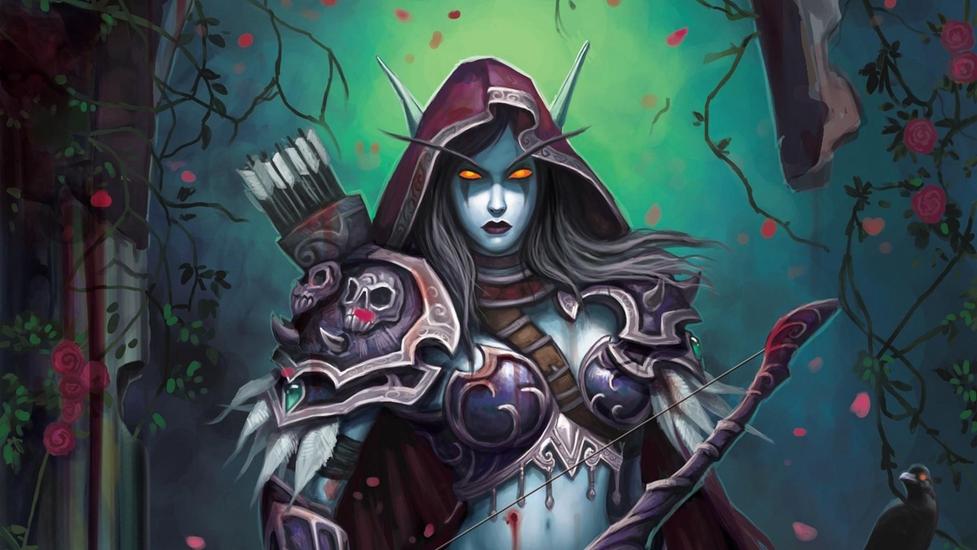 Res: 1920x1080, Elf, Fantasy, Elf, Wow, World Of Warcraft, Lady Sylvanas Windrunner