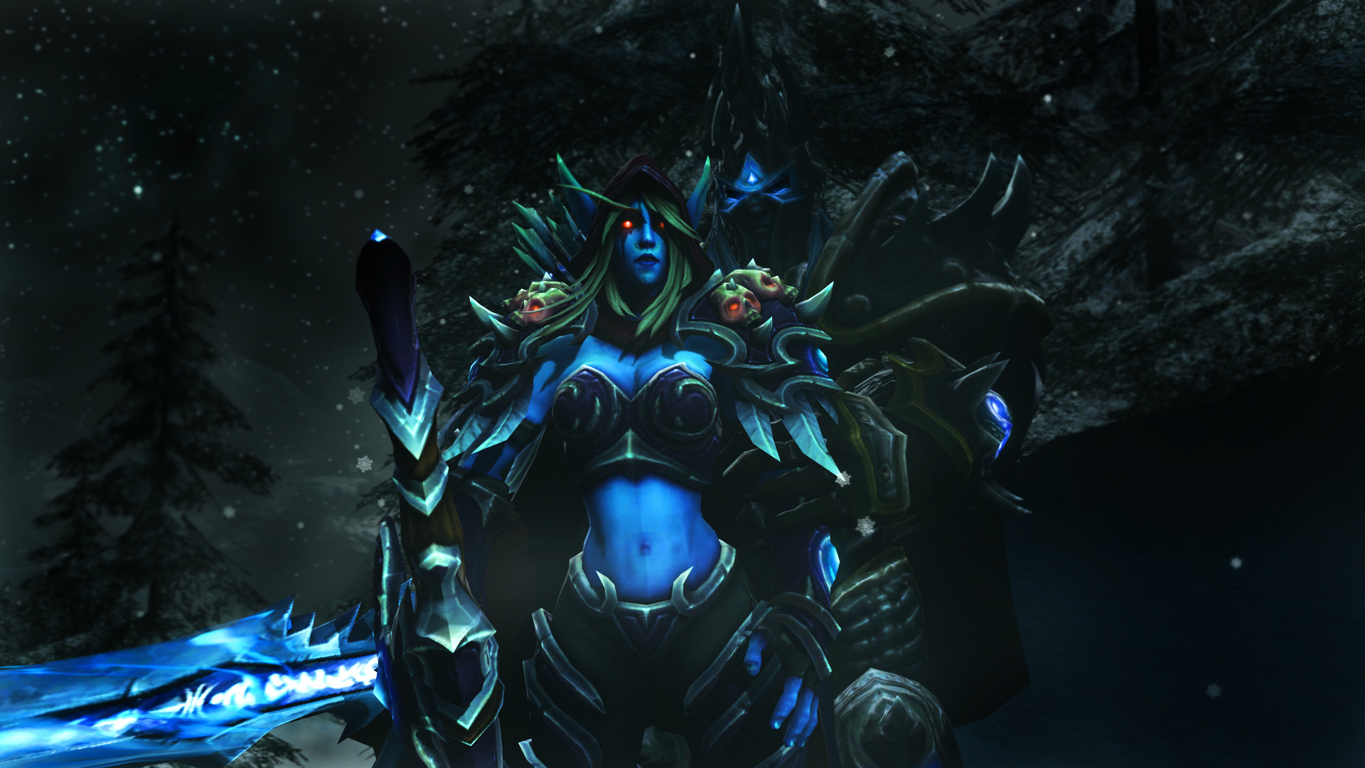 Res: 1920x1080, Arthas and Sylvanas by DarknessRingoGallery