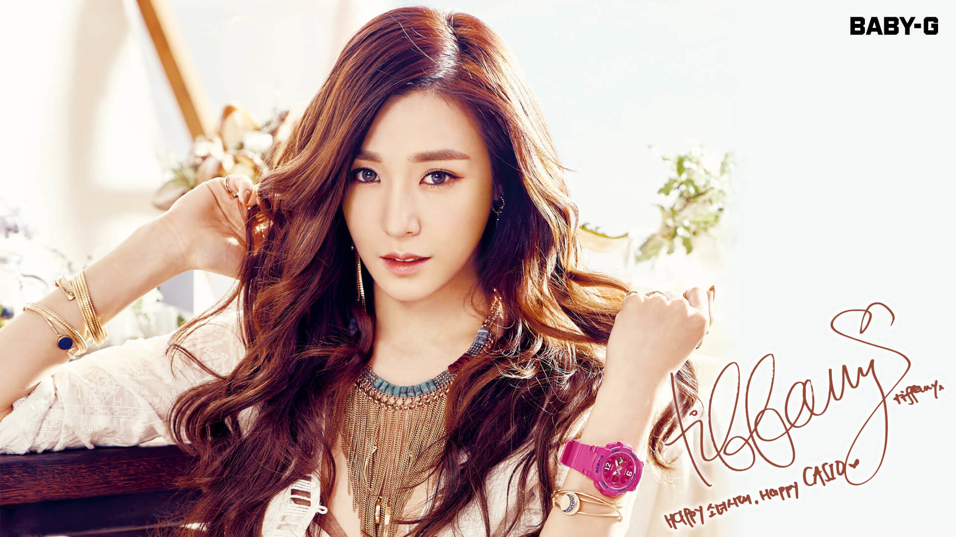 Res: 1920x1080, Girls Generation Casio Baby-G Summer 2016 Wallpaper Tiffany