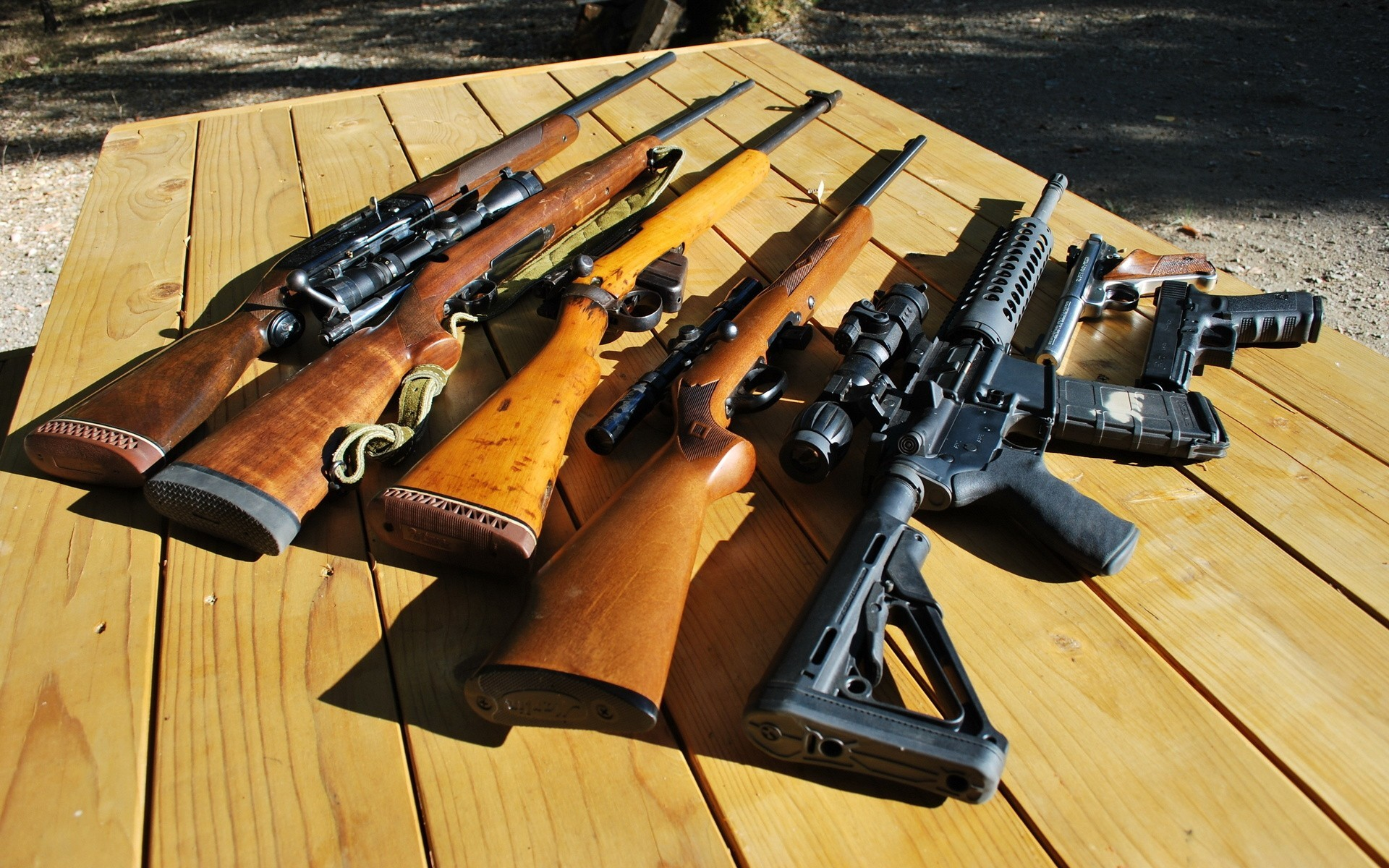 Res: 1920x1200, guns military weapons glock AR 15 lee enfield SMLE Ruger wallpaper