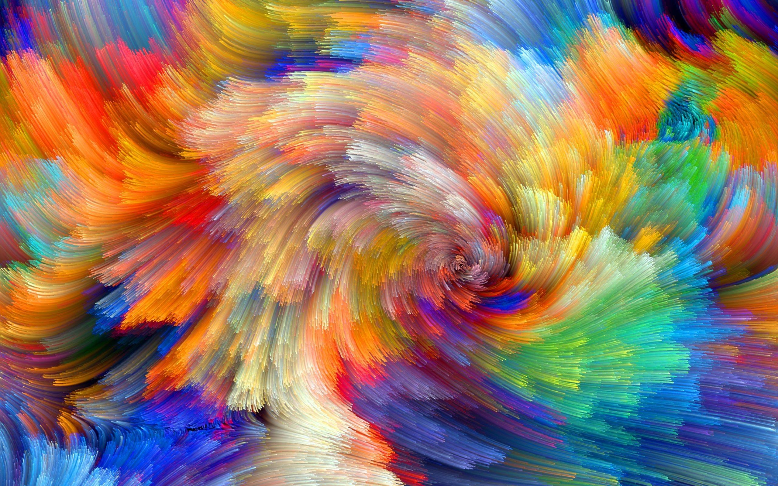 Res: 2560x1600, rainbow pattern color splash background wallpaper
