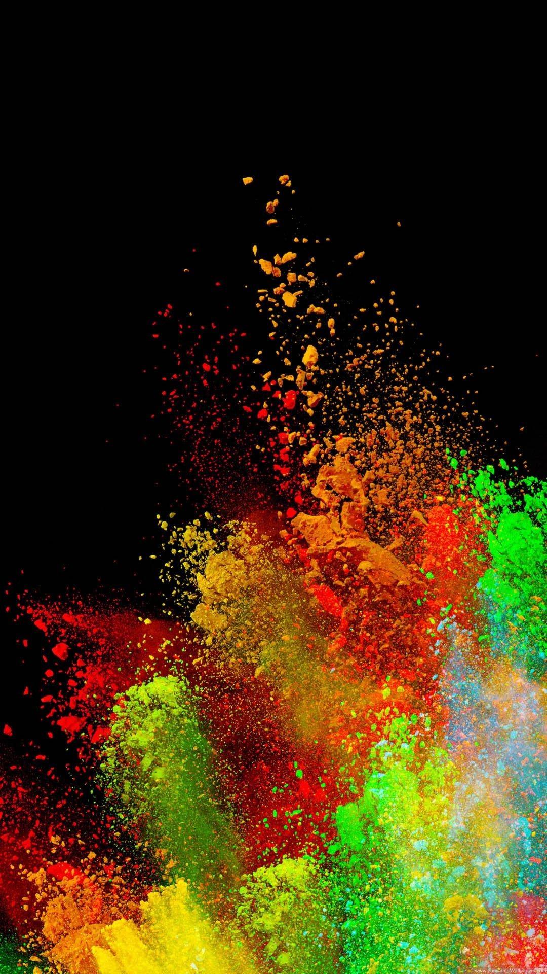 Res: 1080x1920, Color Splash Wallpaper