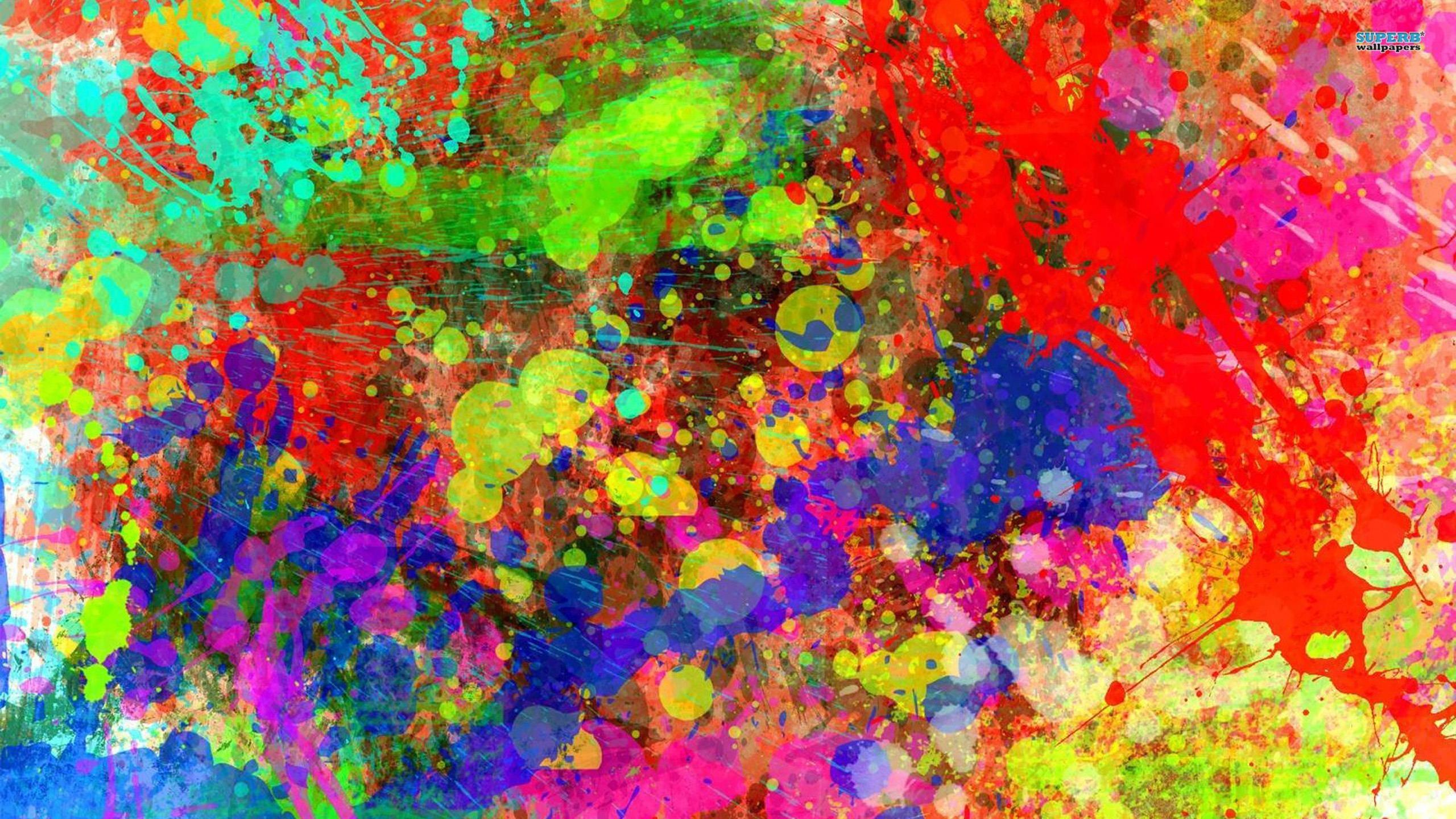 Res: 2560x1440, Rainbow Pattern Color Splash Background Wallpaper. Download Image