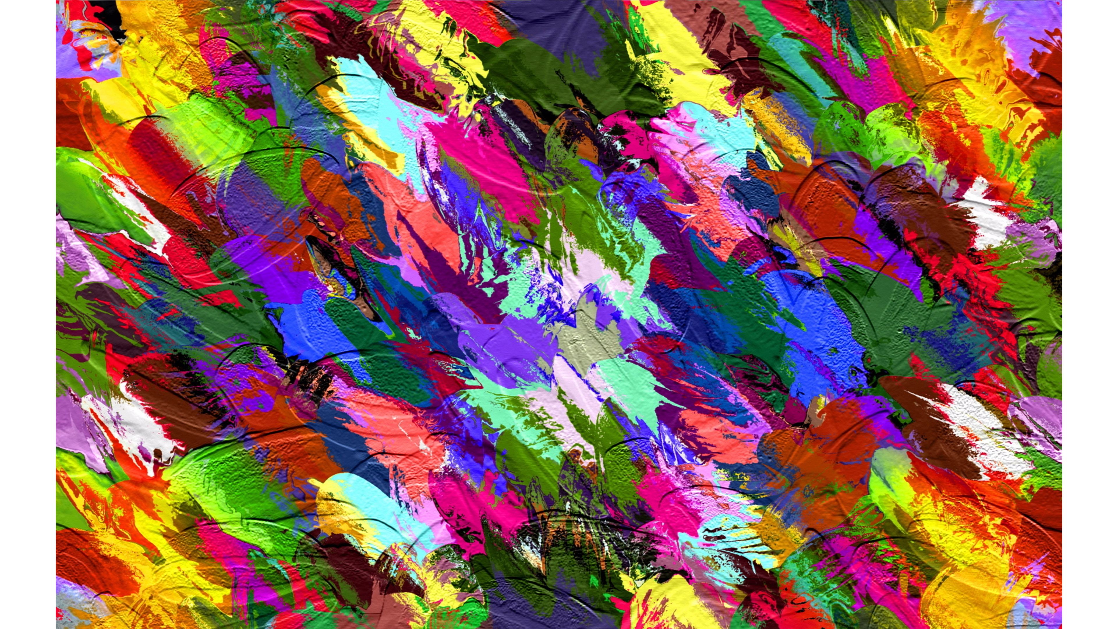 Res: 3840x2160, Color Splash Abstract 4K Wallpaper