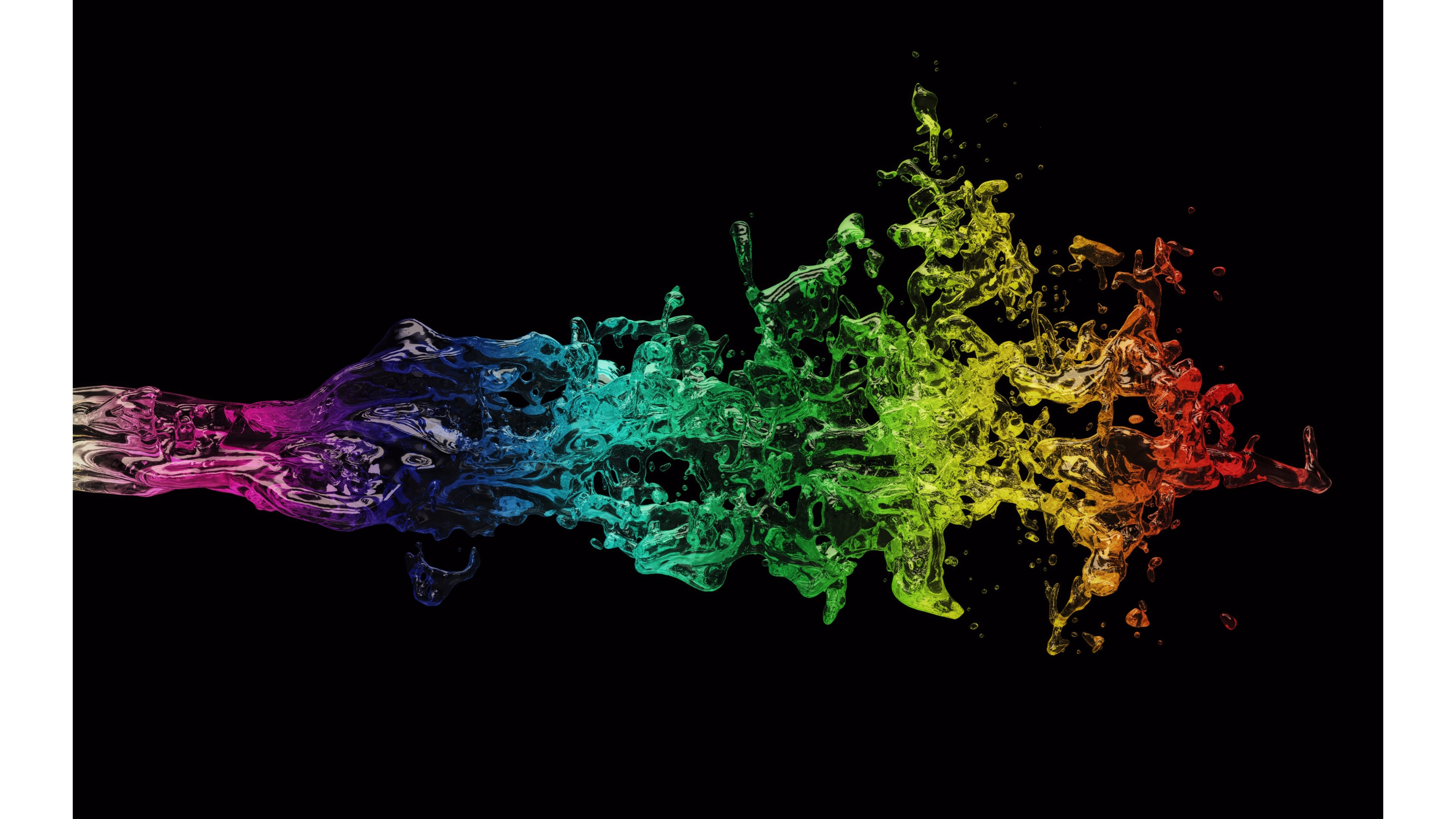 Res: 3840x2160, Splash of Color Abstract 4K Wallpaper