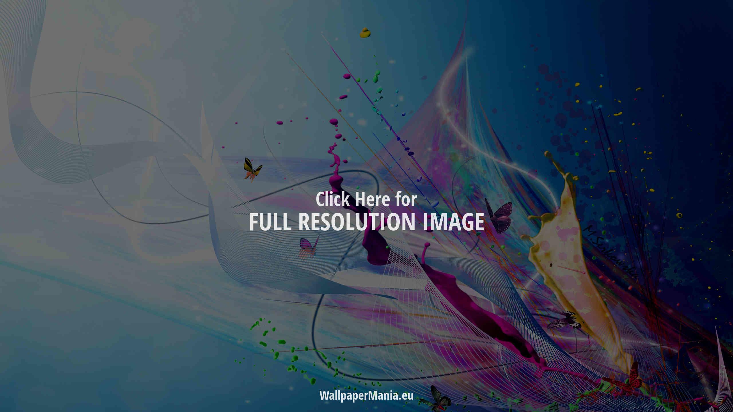 Res: 2560x1440, Color Splash Wallpaper