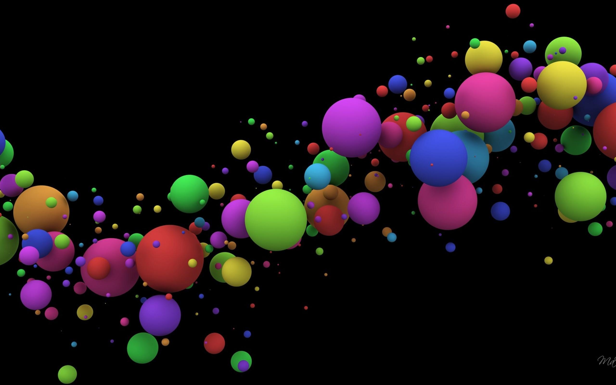 Res: 2560x1600, Bubble Splash Color HD Desktop Wallpaper, Background Image