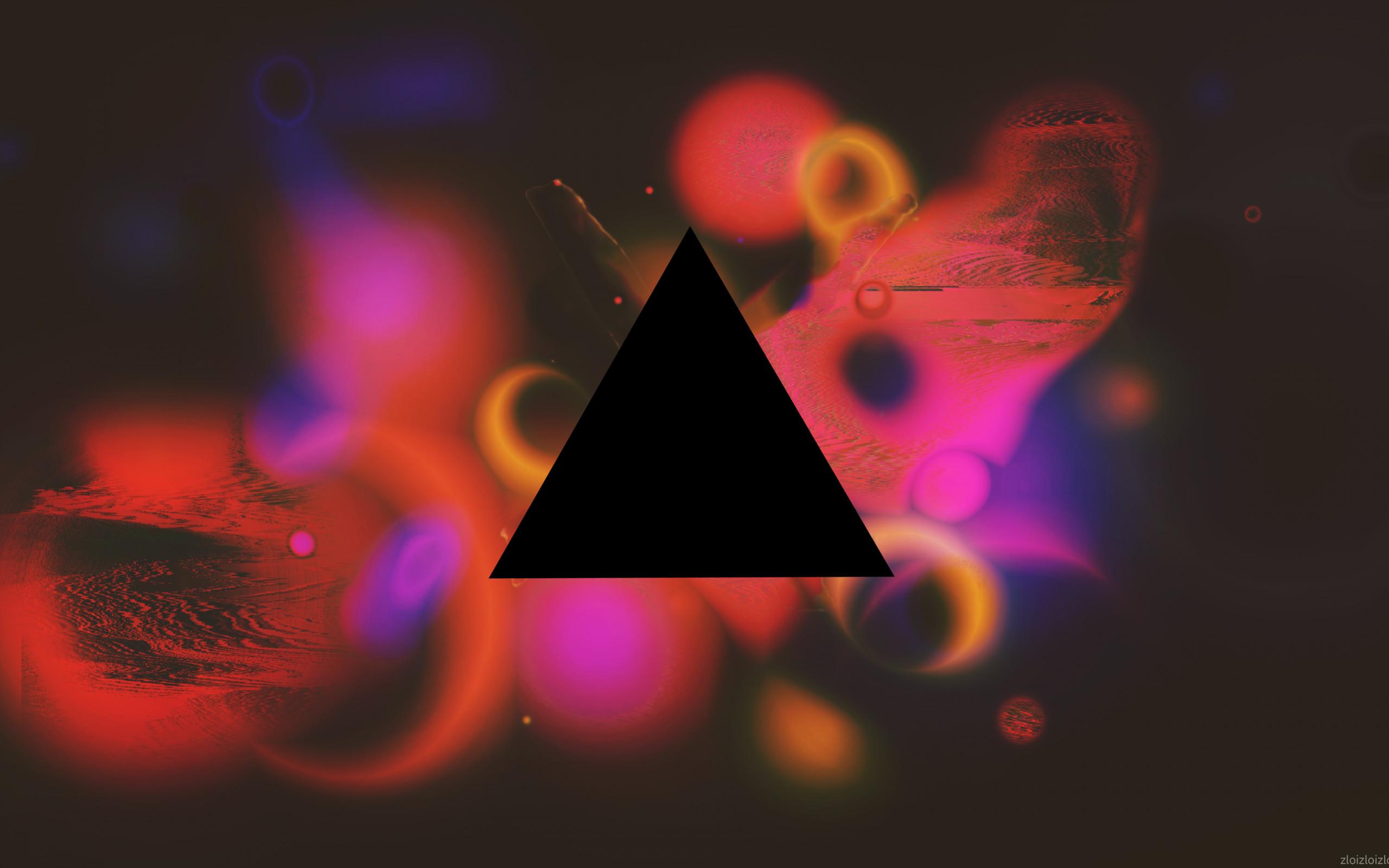 Res: 2560x1600, Color Splash, Triangle, Glitch