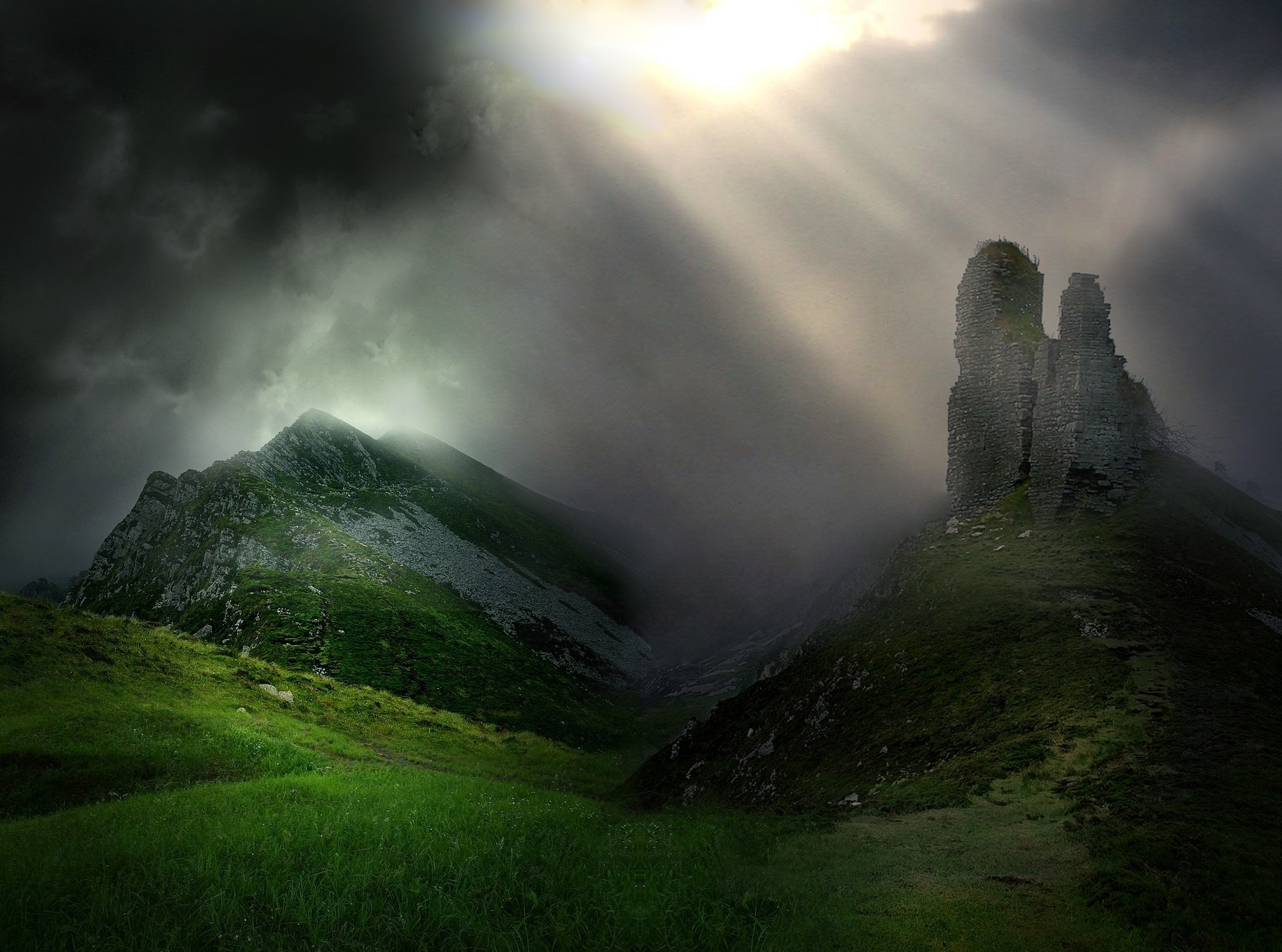 Res: 2022x1501, Cool Ireland Nature Wallpaper Background