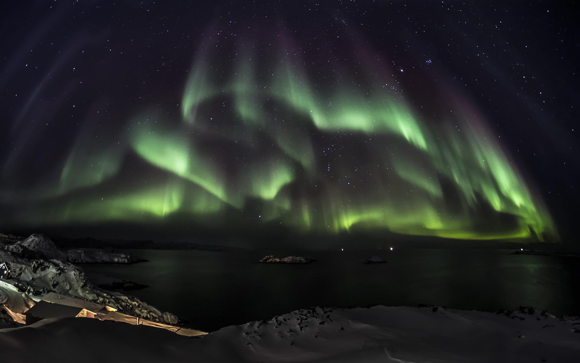 Res: 1920x1200, Stunning Polar Lights Wallpaper