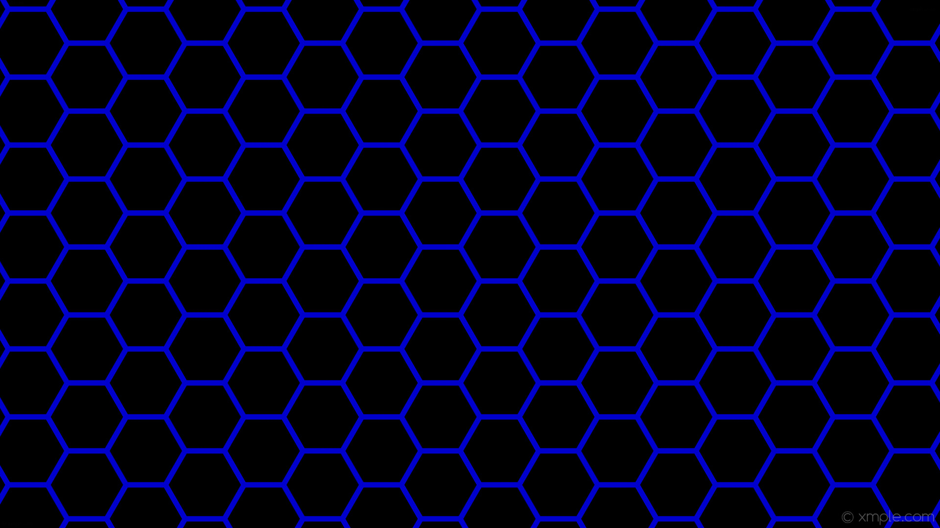 Res: 1920x1080, wallpaper blue black beehive hexagon honeycomb medium blue #000000 #0000cd  diagonal 30° 11px