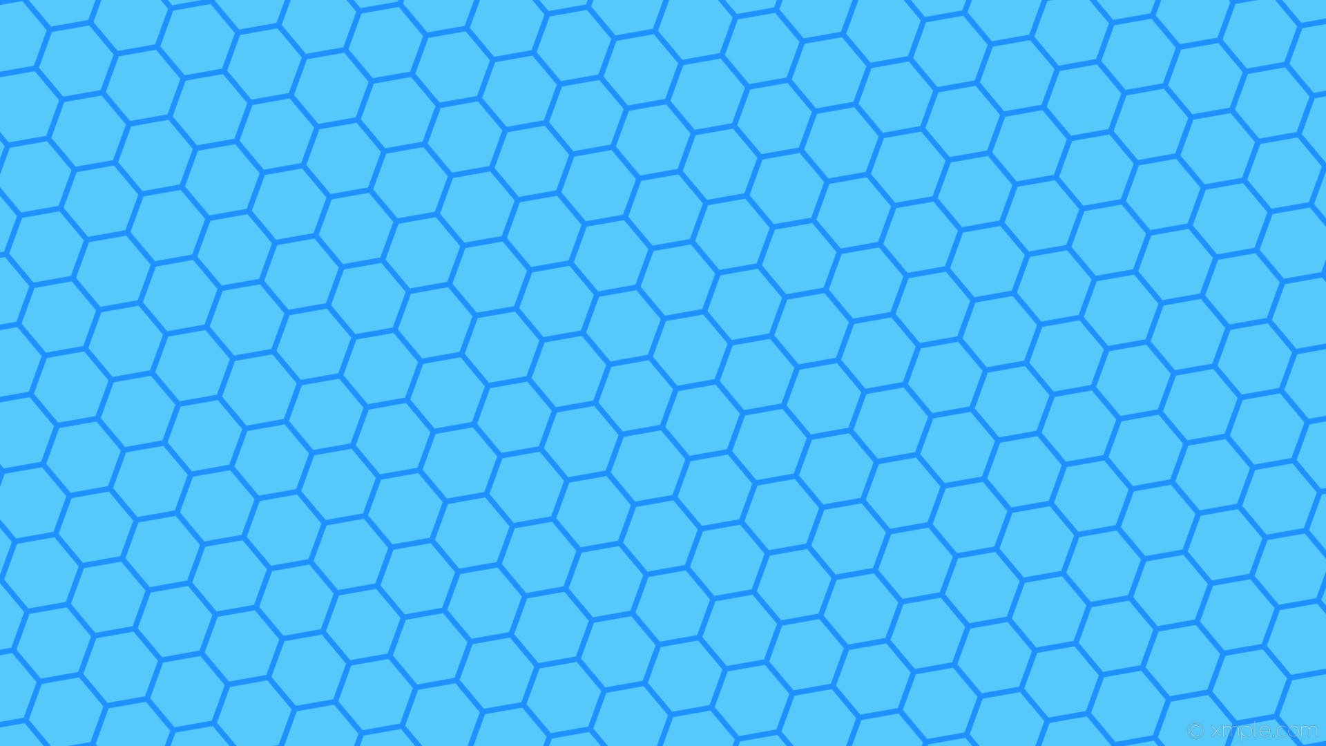 Res: 1920x1080, wallpaper hexagon blue azure beehive honeycomb dodger blue #56c8f9 #1e90ff  diagonal 40° 8px