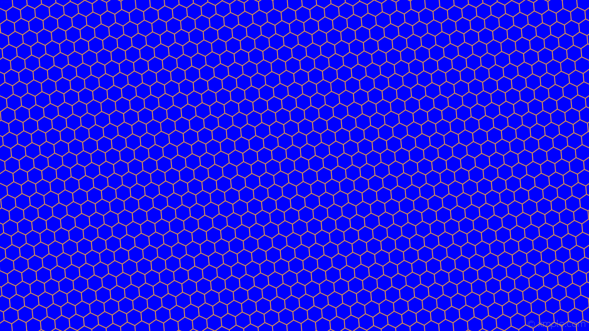 Res: 1920x1080, Wallpaper honeycomb blue orange hexagon beehive #0000ff #db9449 diagonal 5°  3px 47px
