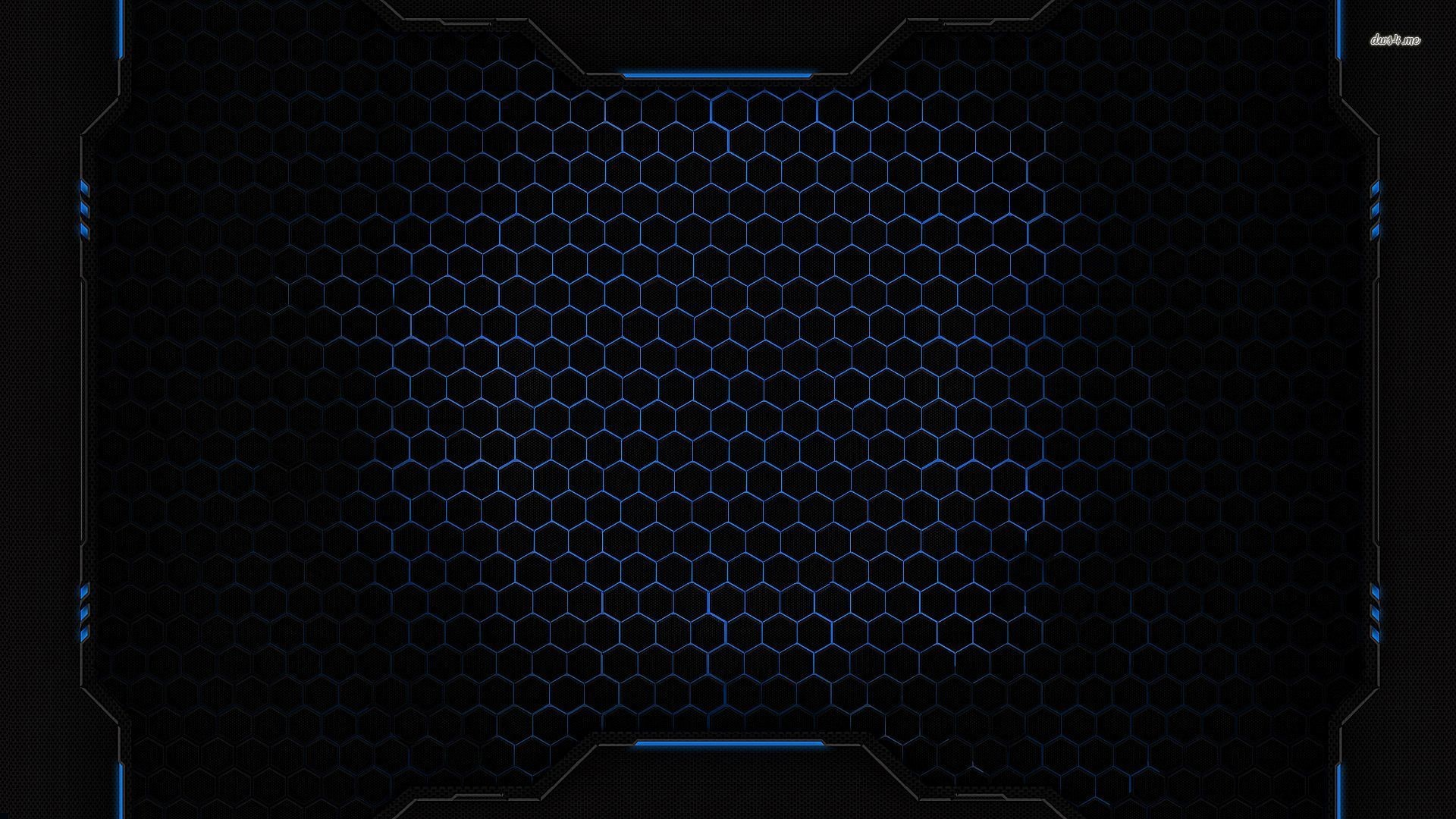 Res: 1920x1080, ... Blue honeycomb grid wallpaper  ...