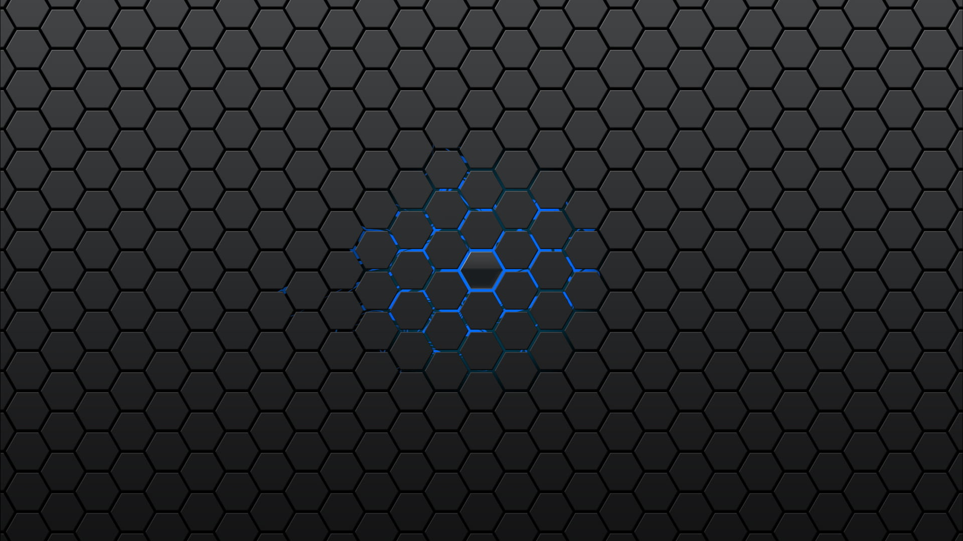 Res: 1920x1080, gray and blue honeycomb graphic HD wallpaper