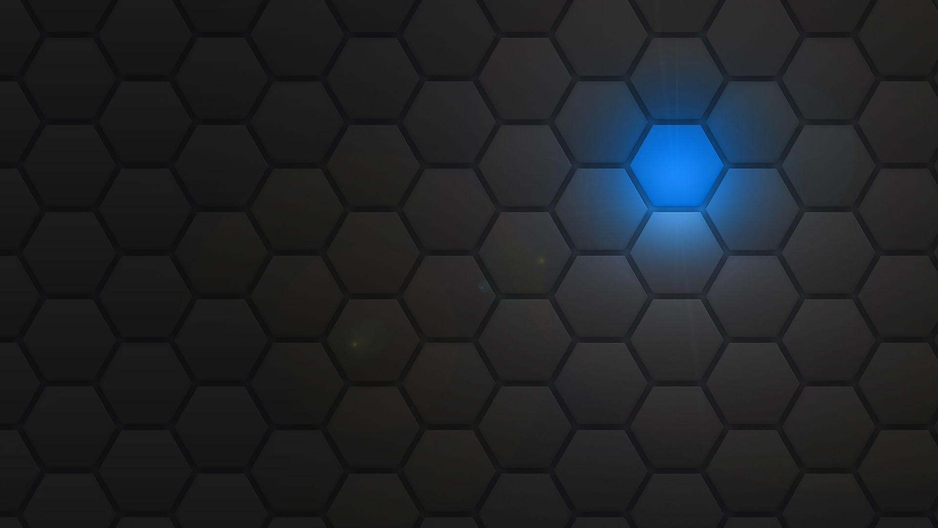 Res: 1920x1080, Blue light behind the honeycomb pattern Wallpaper 29001