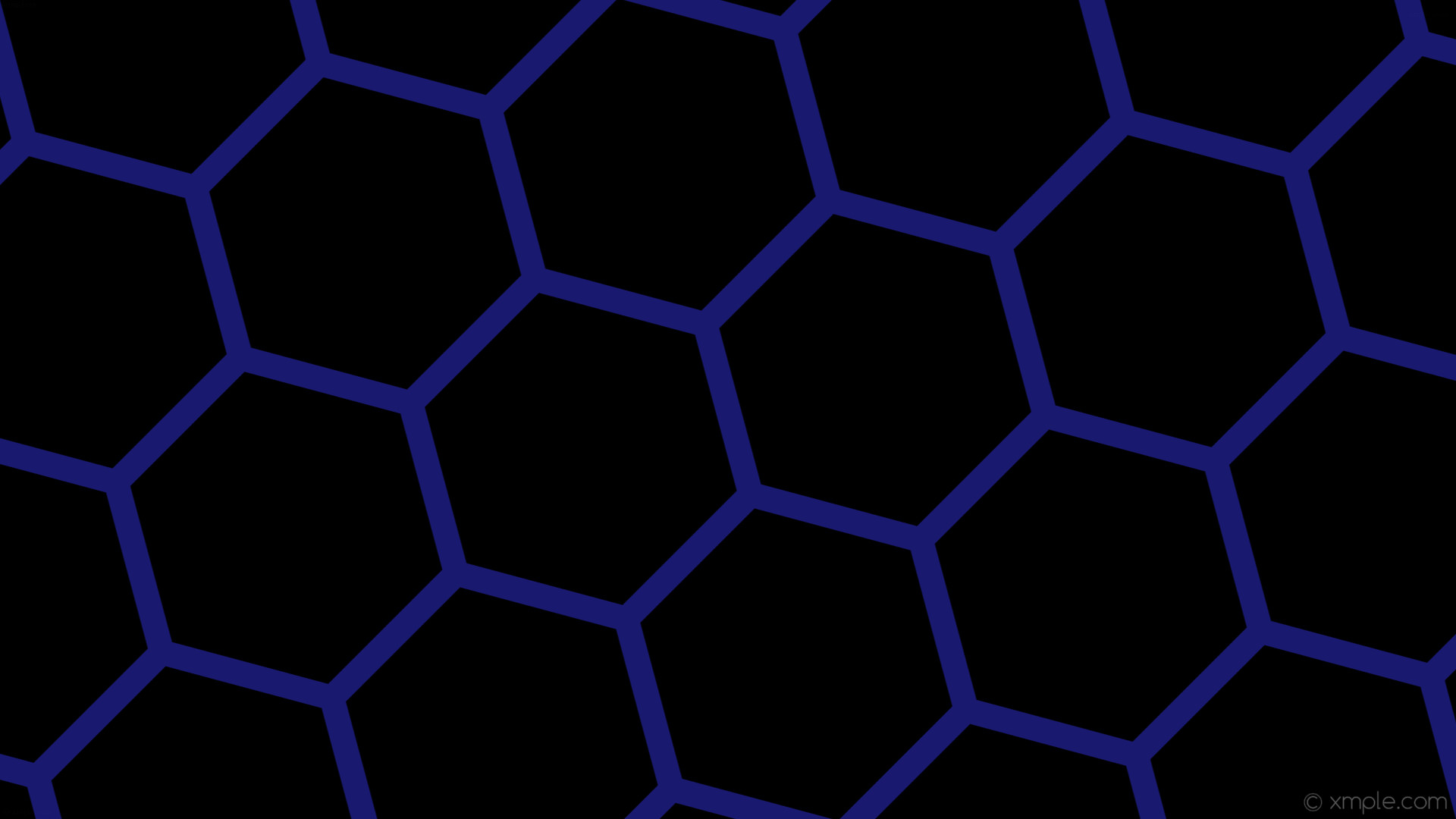 Res: 1920x1080, wallpaper honeycomb black blue hexagon beehive midnight blue #000000  #191970 diagonal 15° 33px