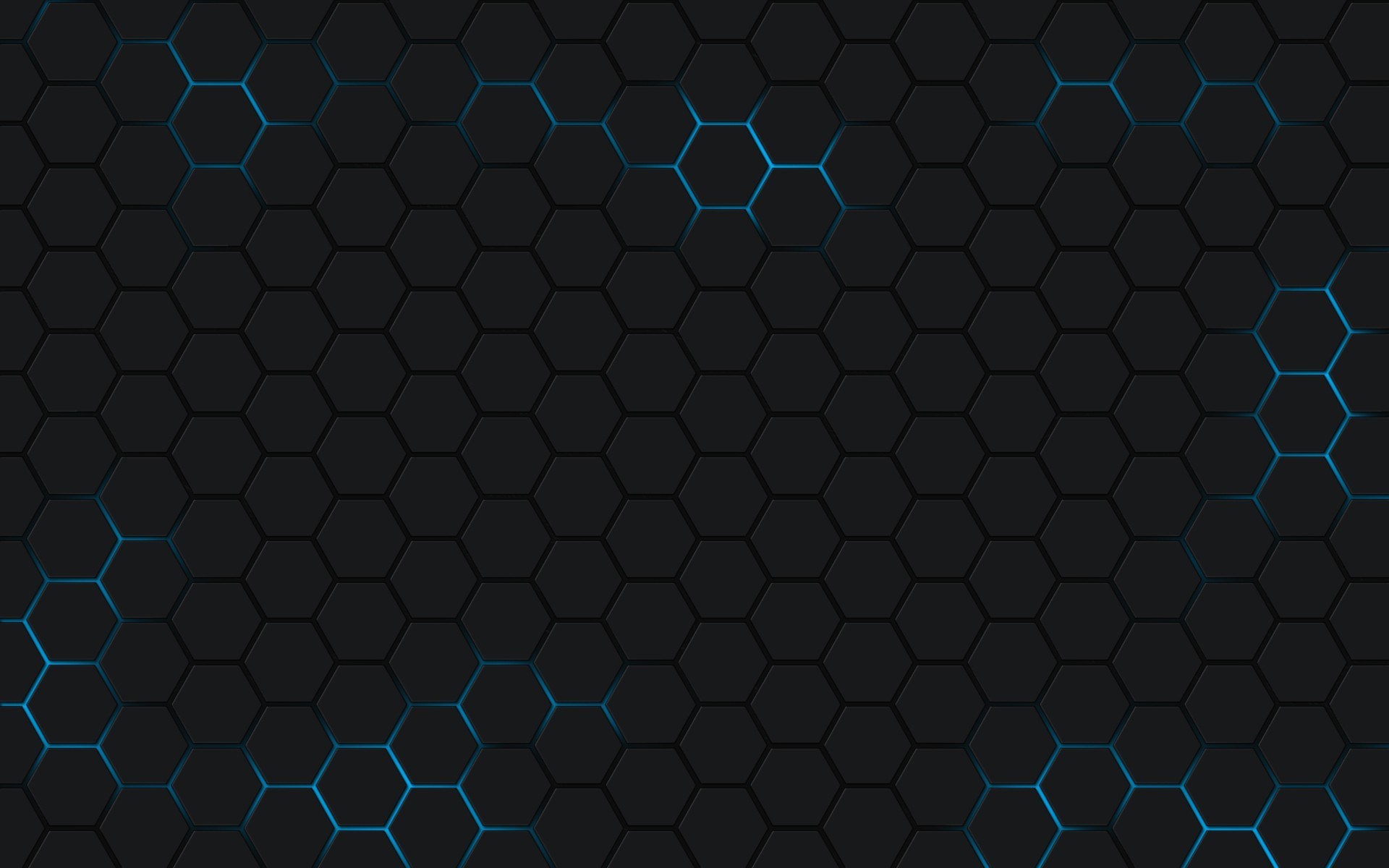 Res: 1920x1200, Blue bright honeycomb pattern