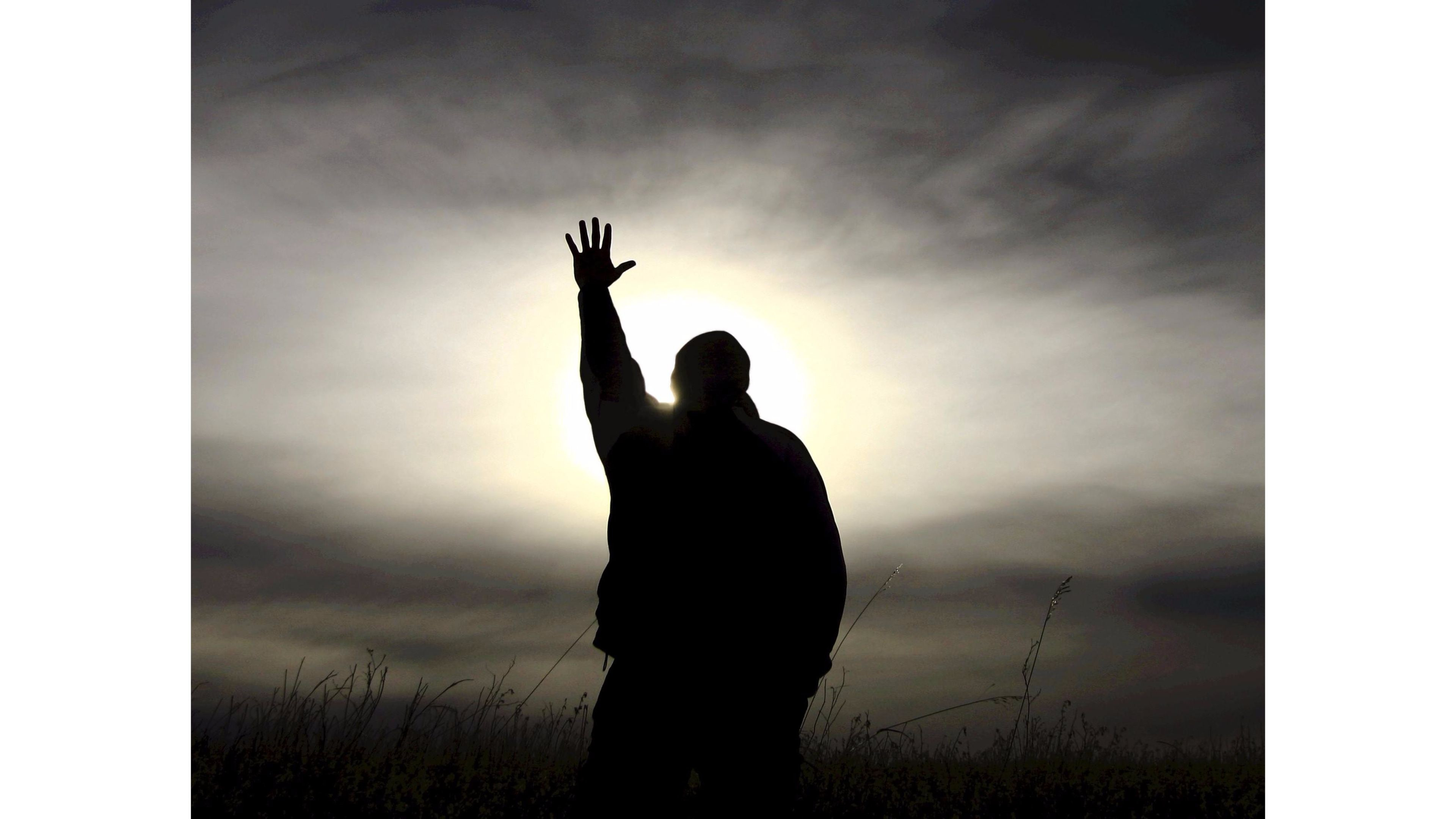 Res: 3840x2160, Sunset Praying Religious 4K Wallpapers