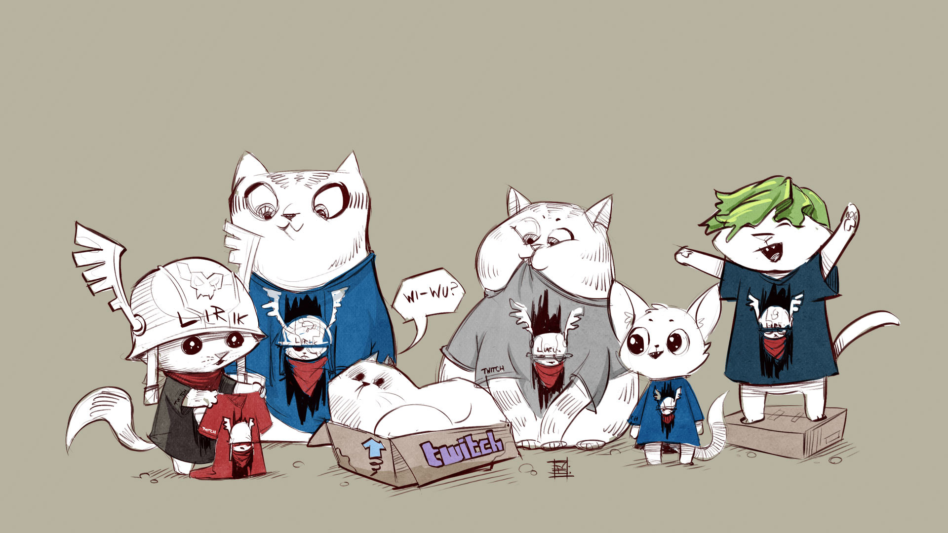 Res: 1920x1080, Lirik Wallpaper Shirt Cats []