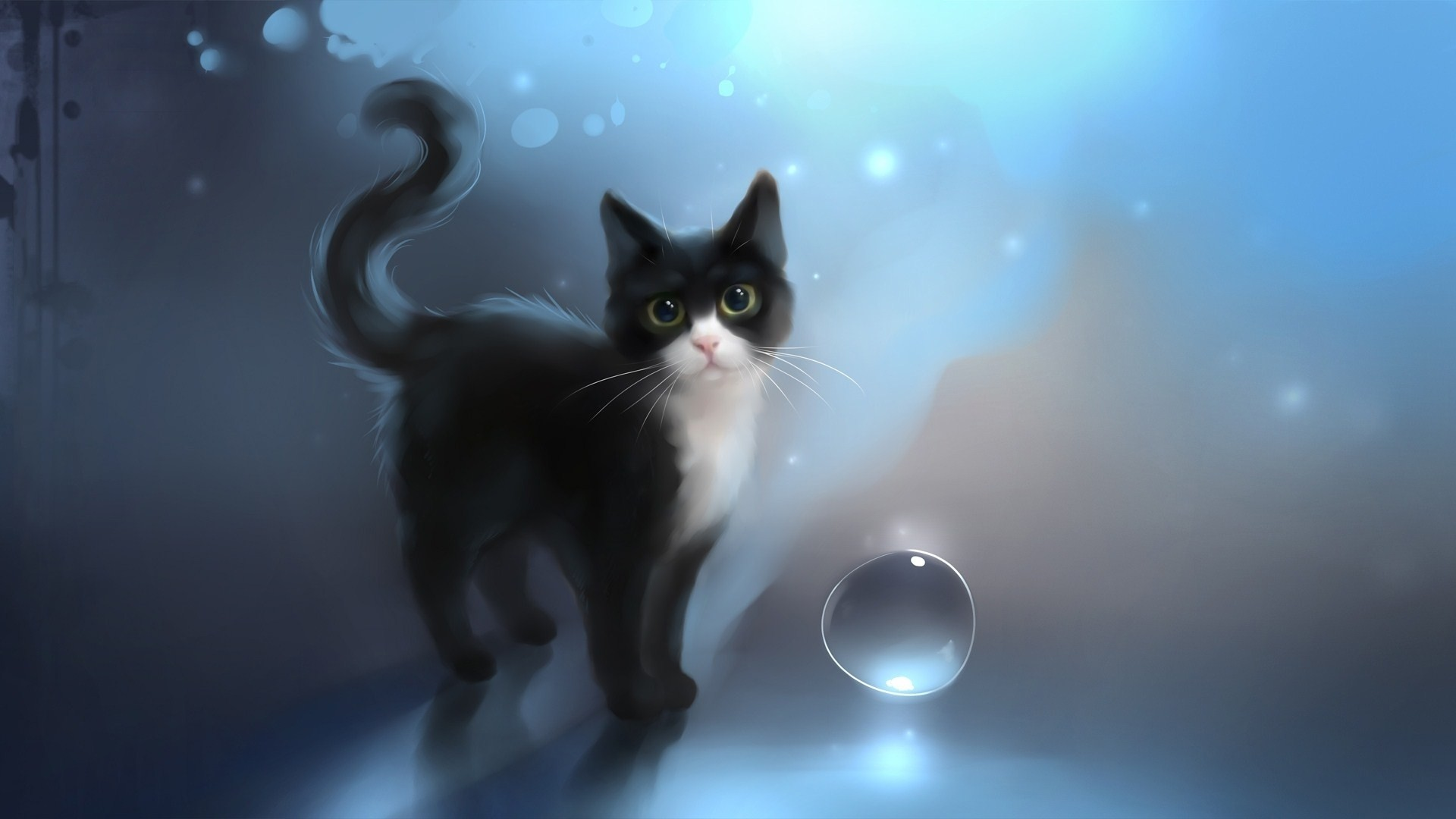 Res: 1920x1080, Amazing Cat Wallpaper Imgur - beautiful-art-drawing-cat-wallpaper-album