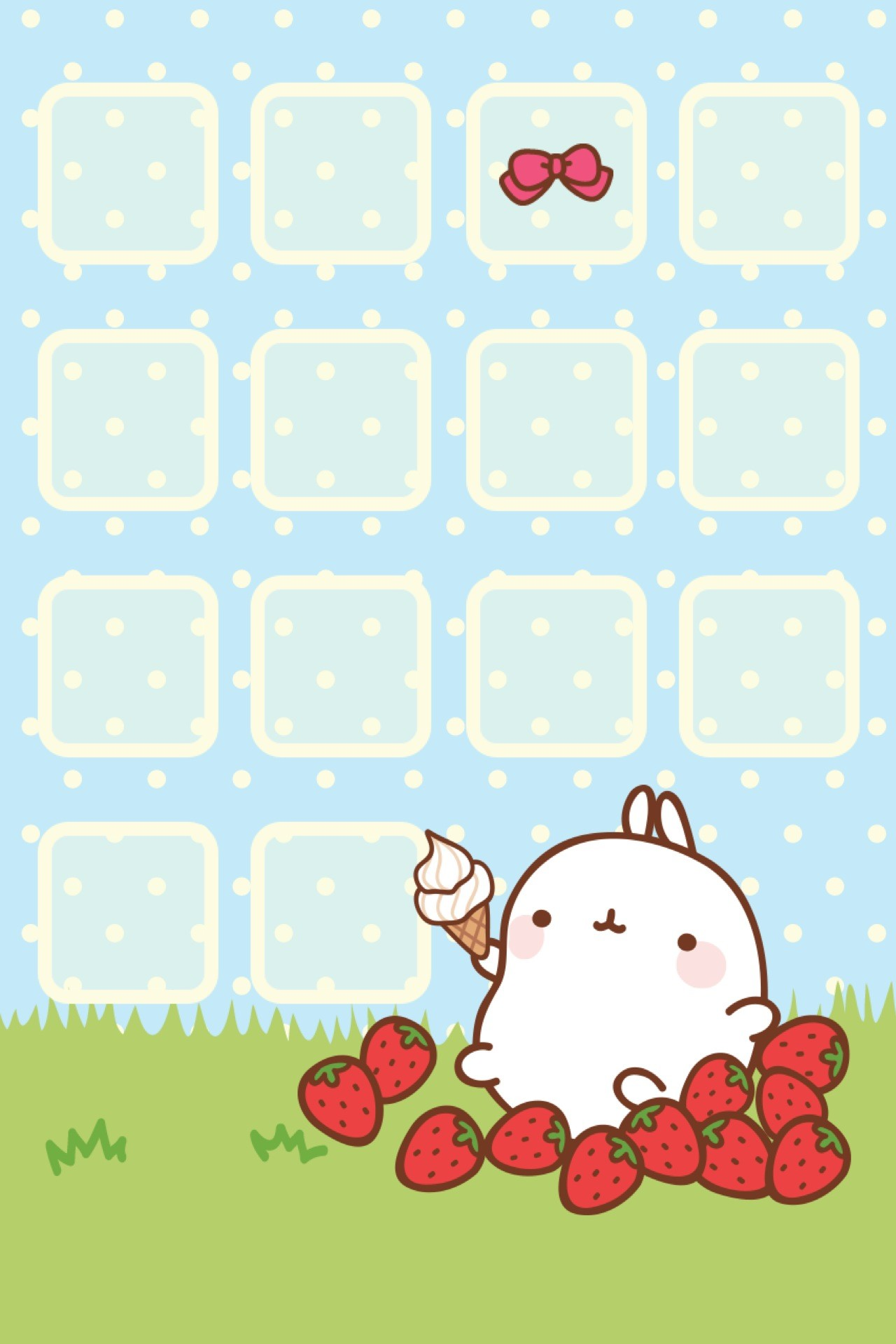 Res: 1280x1920, Molang iPhone Theme & Wallpaper